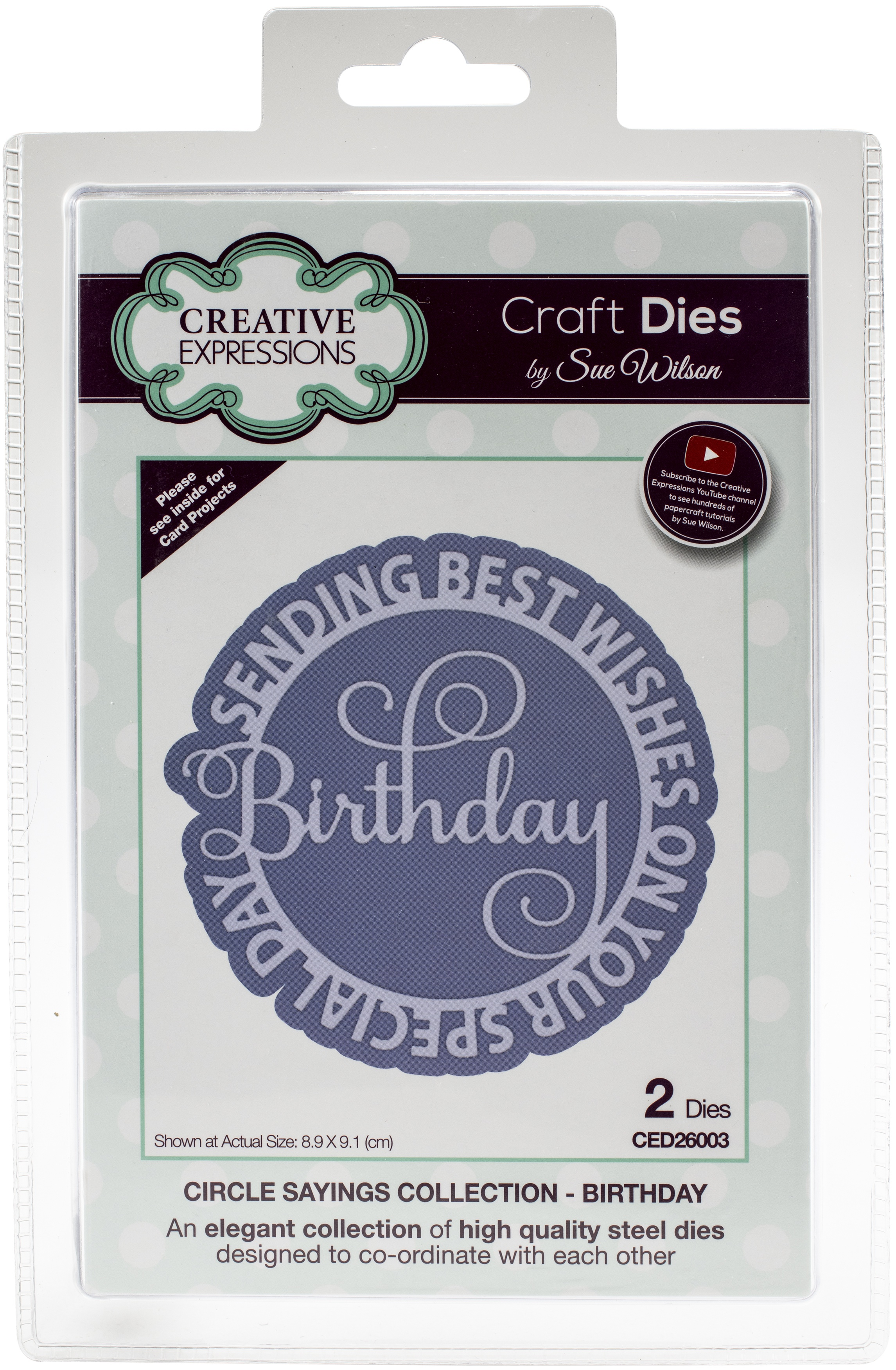 Creative Expressions Craft Dies By Sue Wilson-Circle Sayings- Birthday