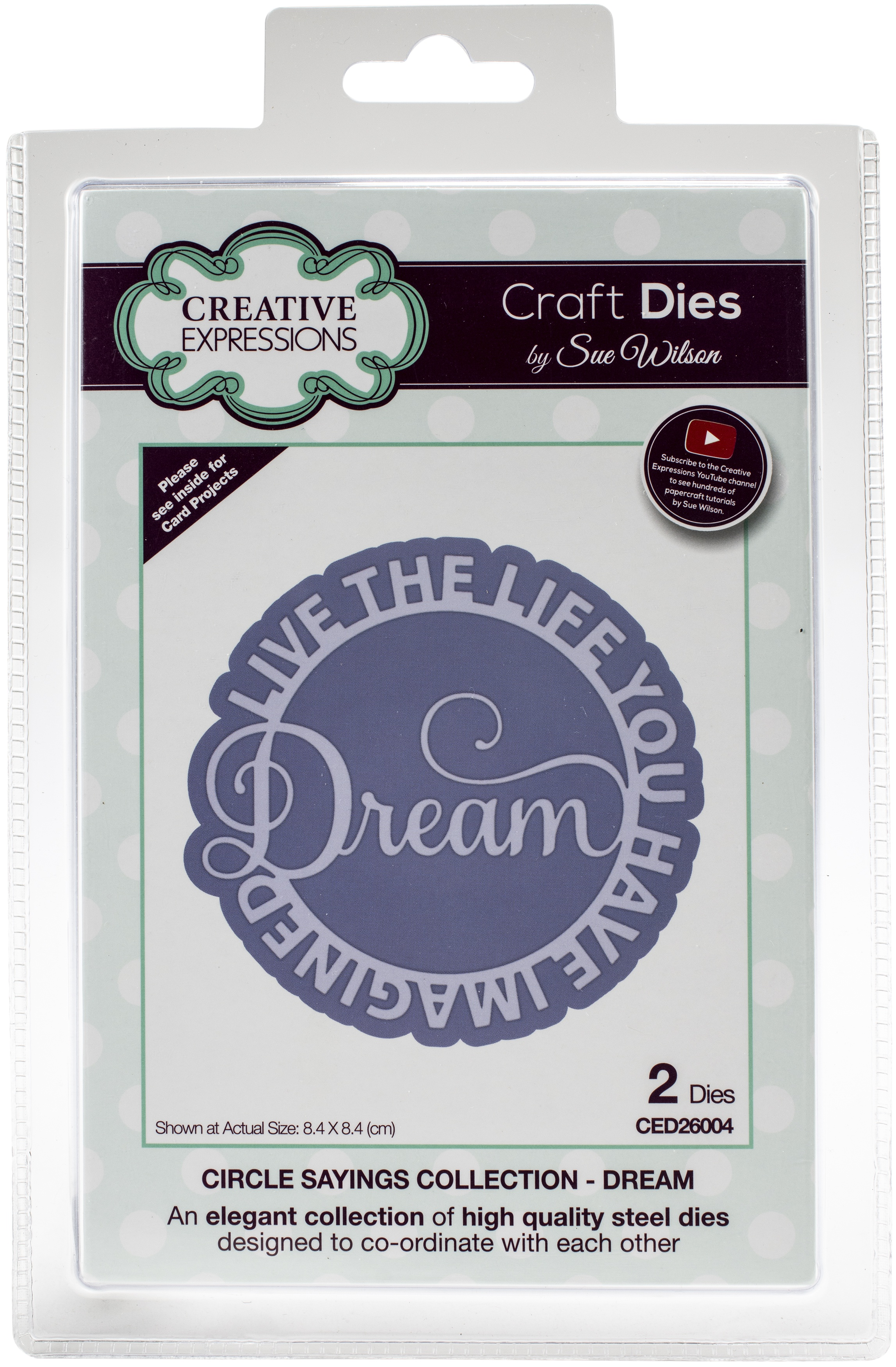 Creative Expressions Craft Dies By Sue Wilson-Circle Saying- Dream