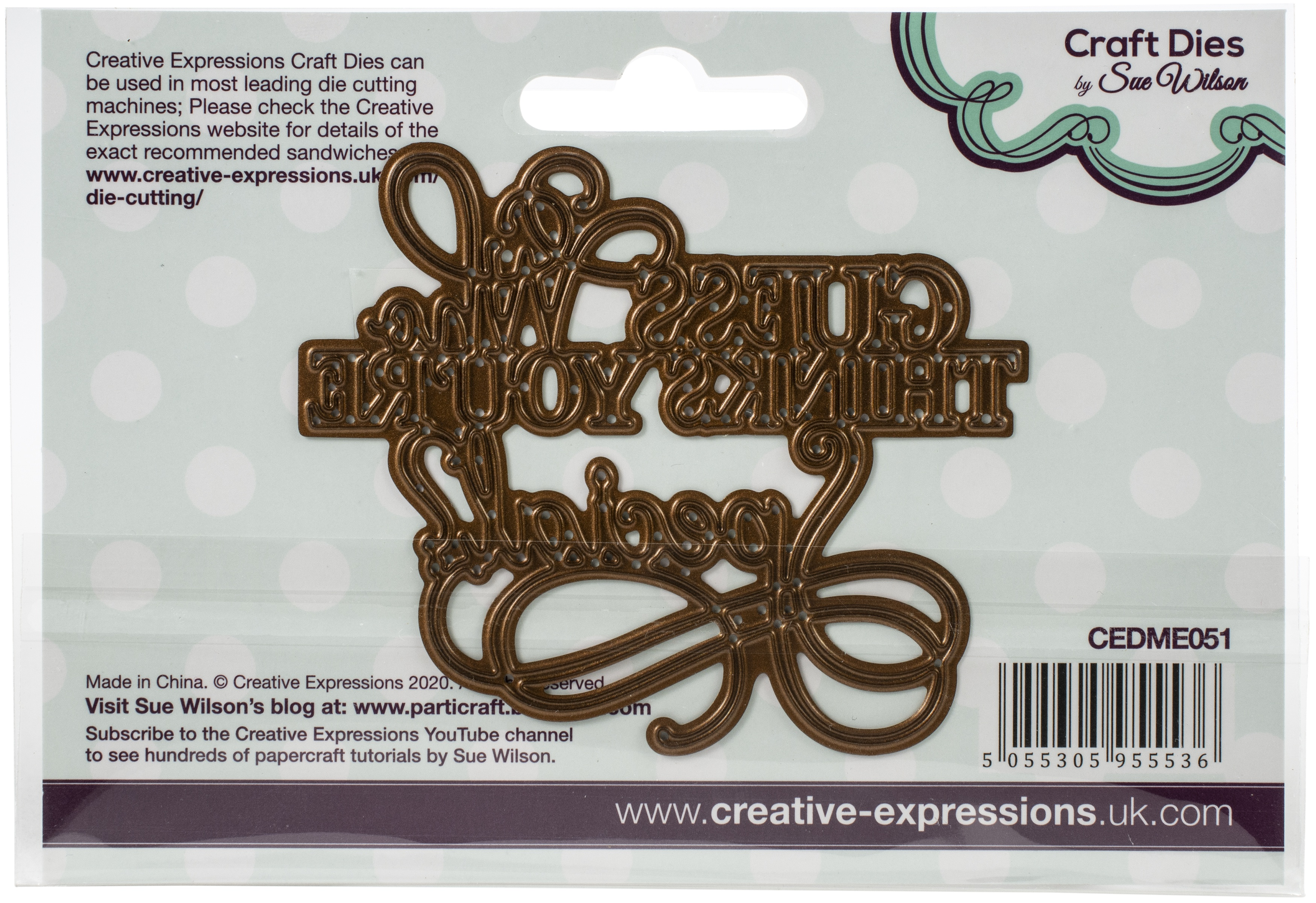 Creative Expressions Craft Dies By Sue Wilson-Mini- Guess Who Thinks Your Specia...