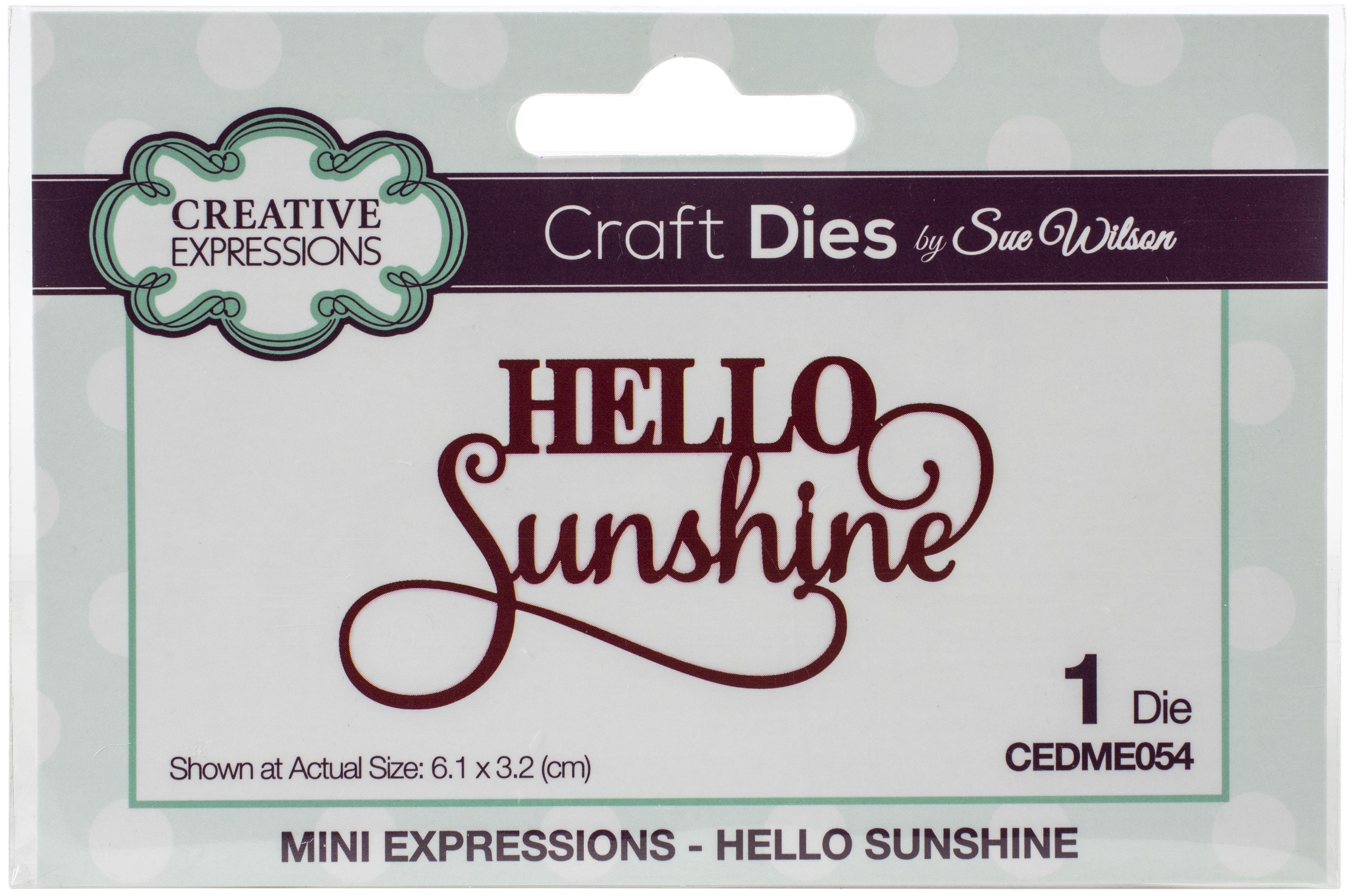 Mini Expressions Hello Sunshine Die