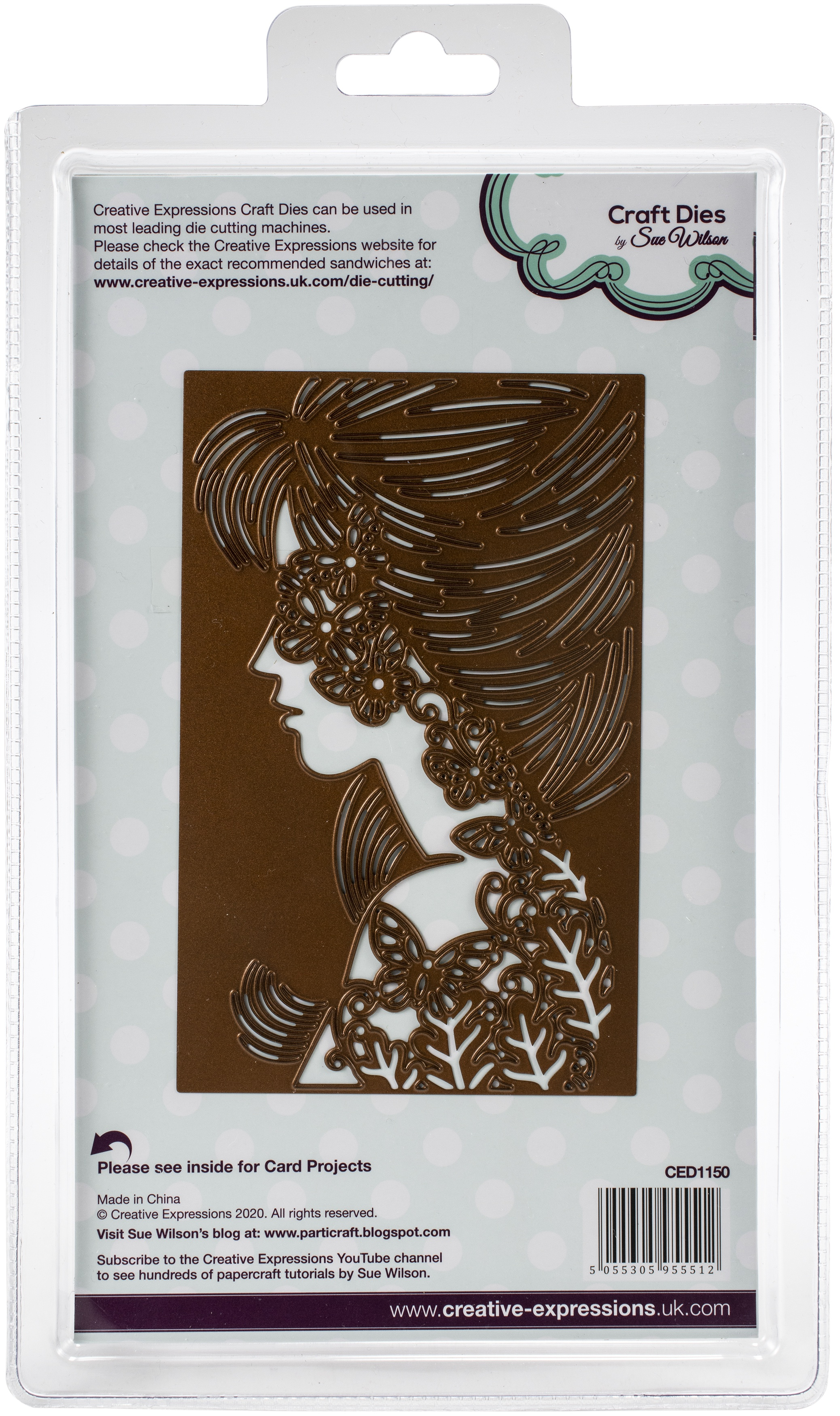 Creative Expressions Craft Dies By Sue Wilson-Perfect Portraits- Papillon Silhouette