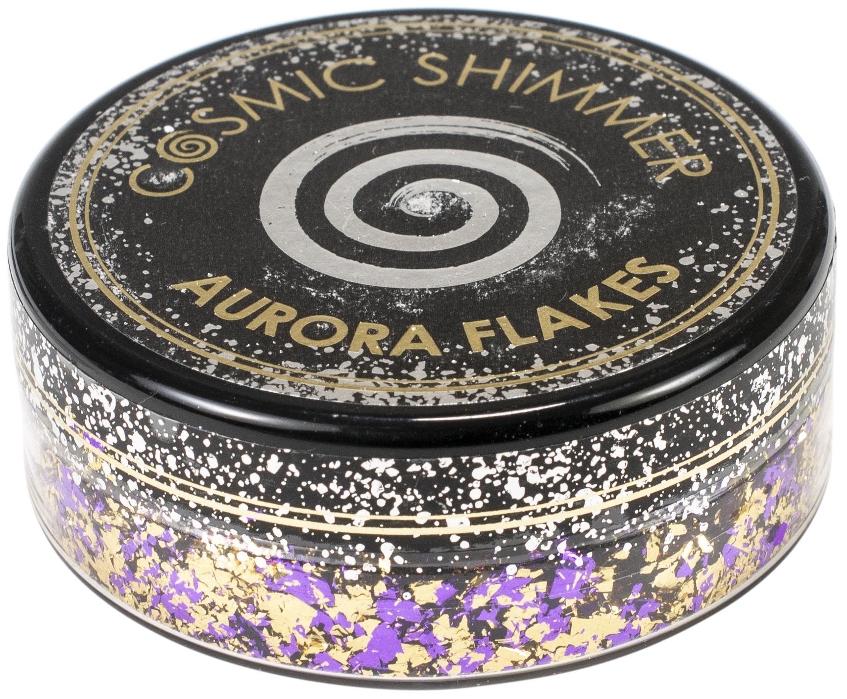 Creative Expressions Cosmic Shimmer Aurora Flakes 50ml-Purple Dawn
