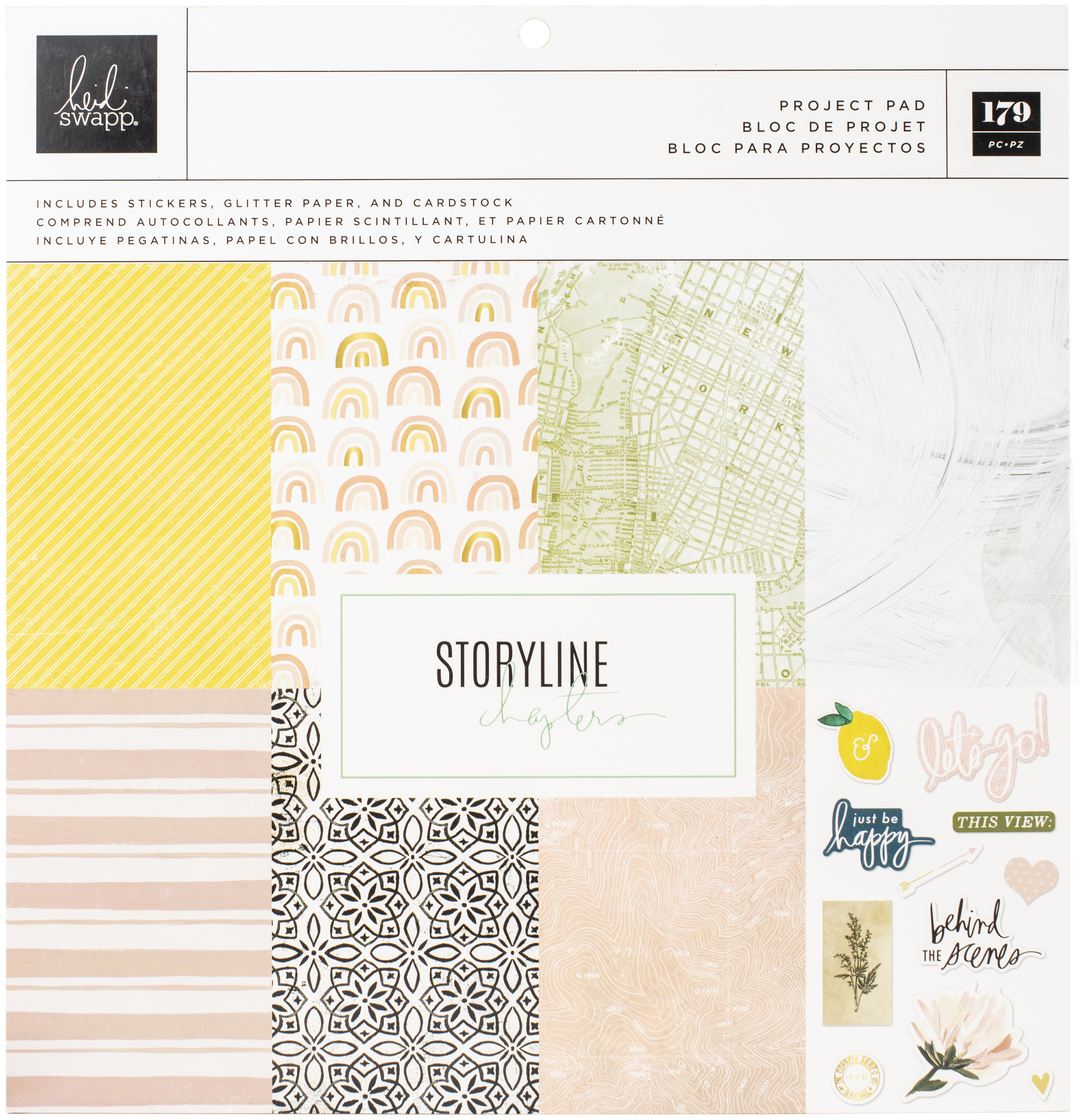 Heidi Swapp Storyline Chapters Project Pad 12X12-179 Pieces