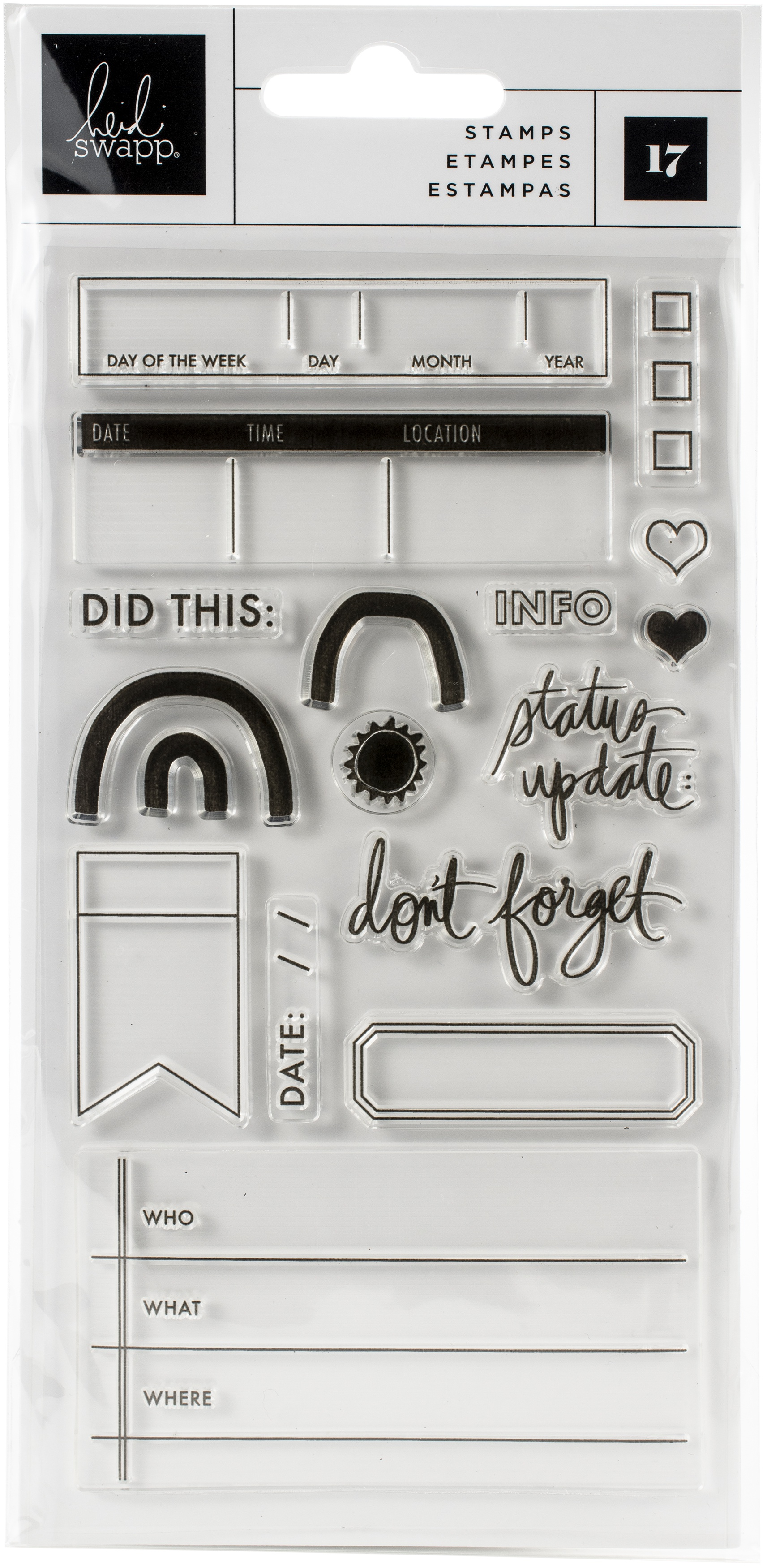 Heidi Swapp Storyline Chapters Clear Stamps 17/Pkg-