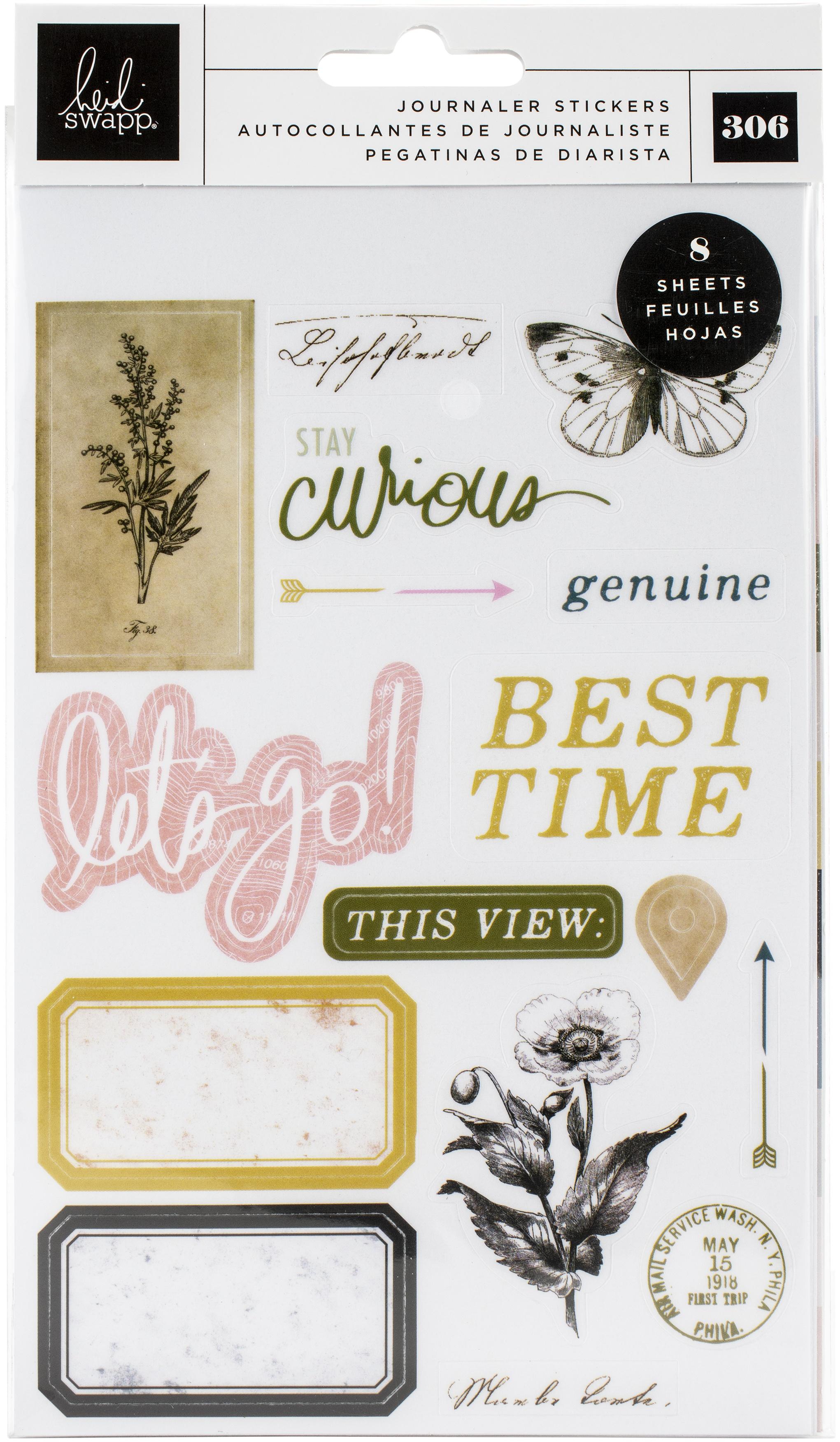 Heidi Swapp Storyline Chapters Mini Sticker Book-The Journaler