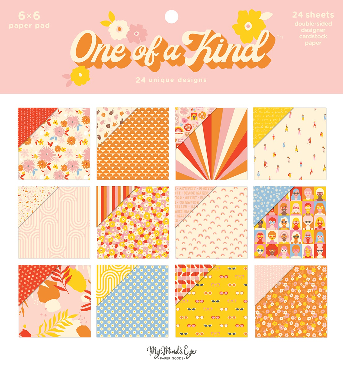 My Mind's Eye Double-Sided Paper Pad 6X6 24/Pkg-One Of A Kind, 12 Designs/2 Ea...