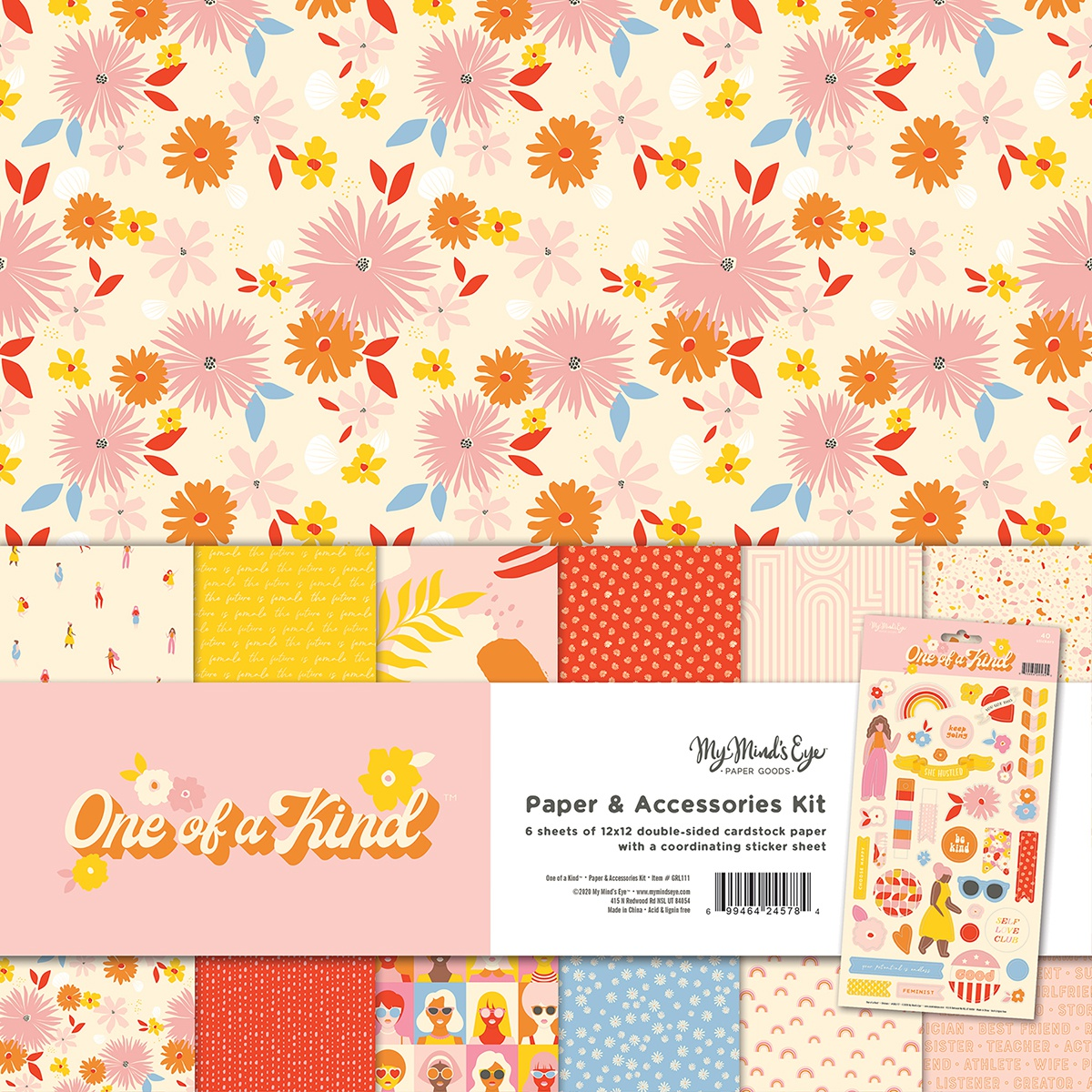 My Mind's Eye Paper & Accessories Kit 12X12-One Of A Kind
