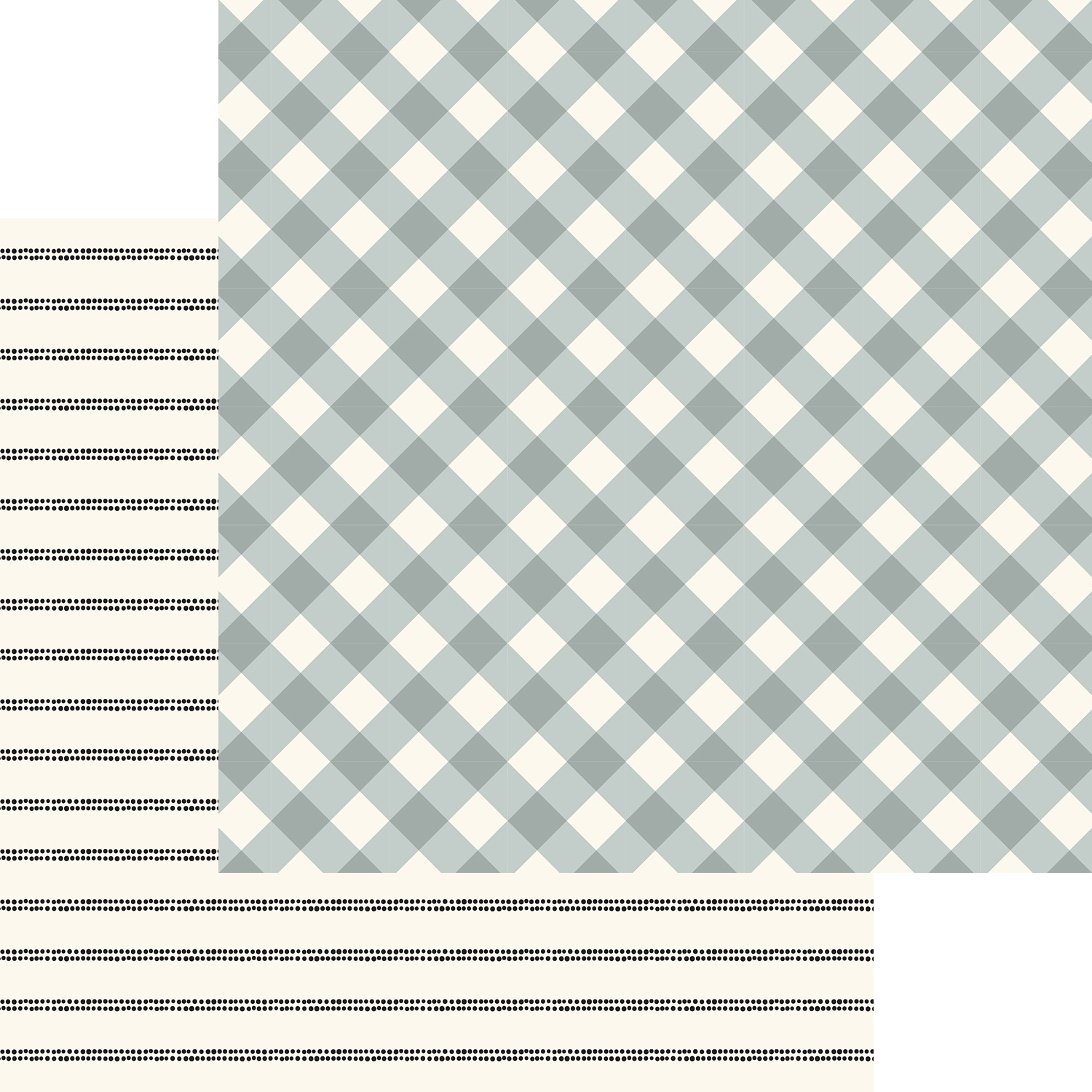 Gingham Gardens Double-Sided Cardstock 12X12-Charlotte