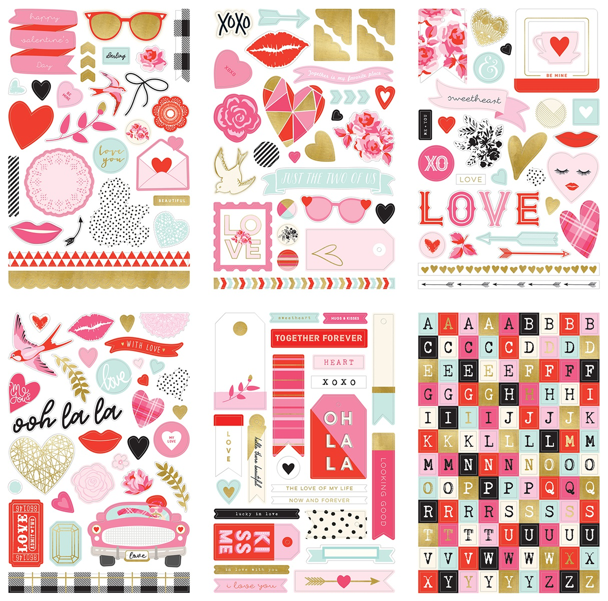 With Love Stickers 6/Sheets-