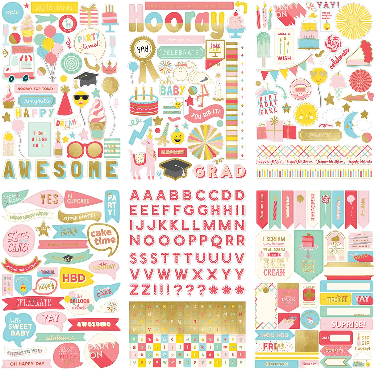 Yay Stickers 6/Sheets-