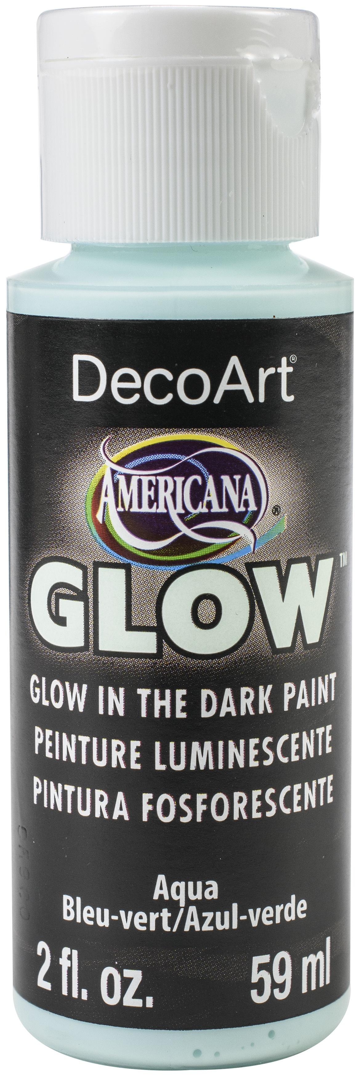 Americana Glow In The Dark Paint 2oz-Blue
