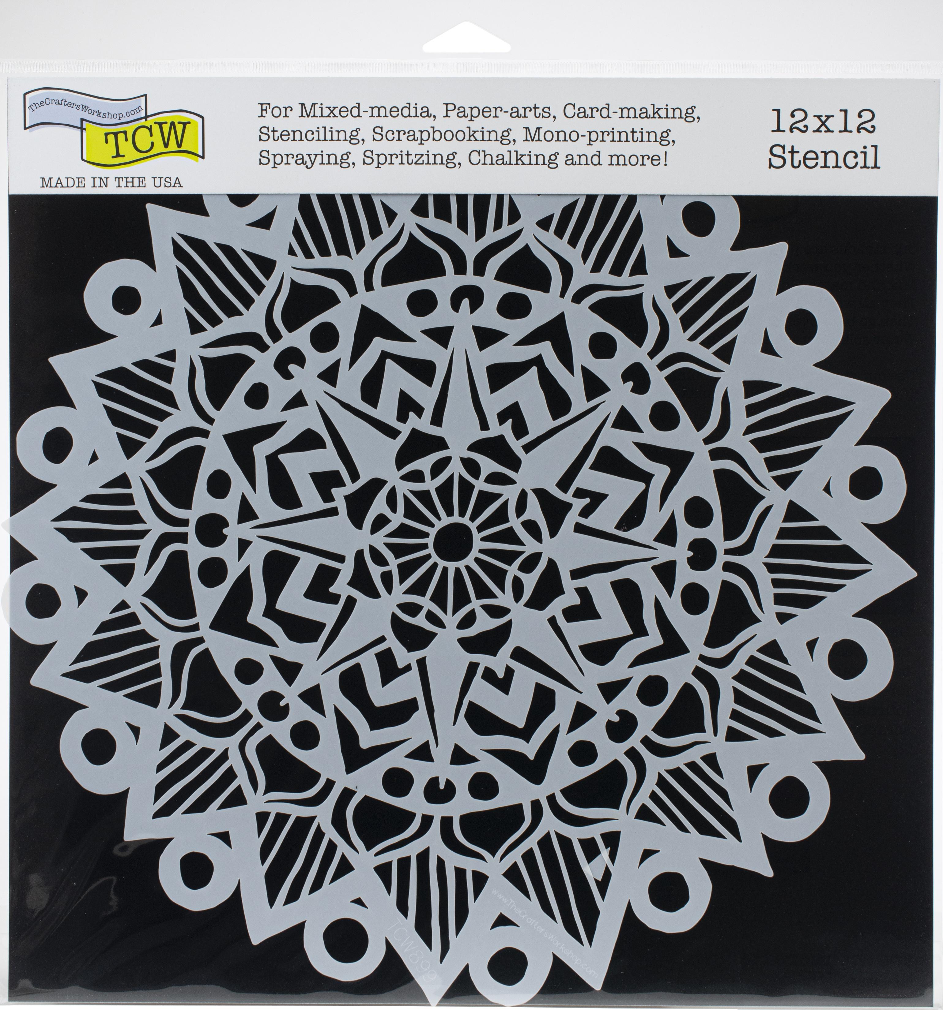 Crafter's Workshop Template 12X12-Striped Mandala