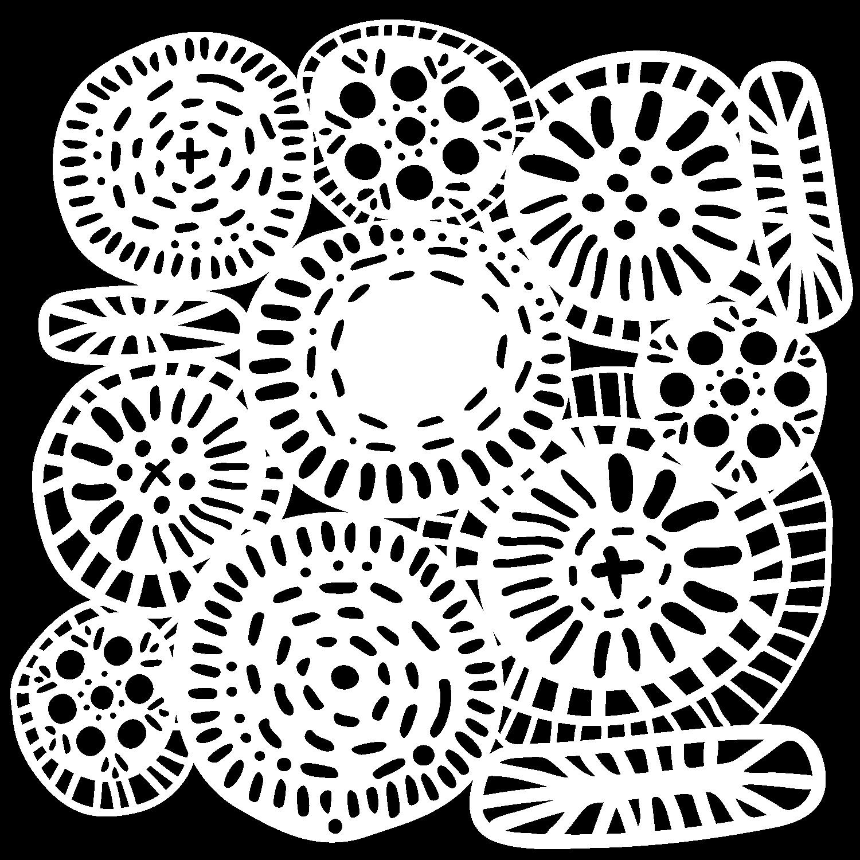 Crafter's Workshop Template 6X6-Circle Jumble