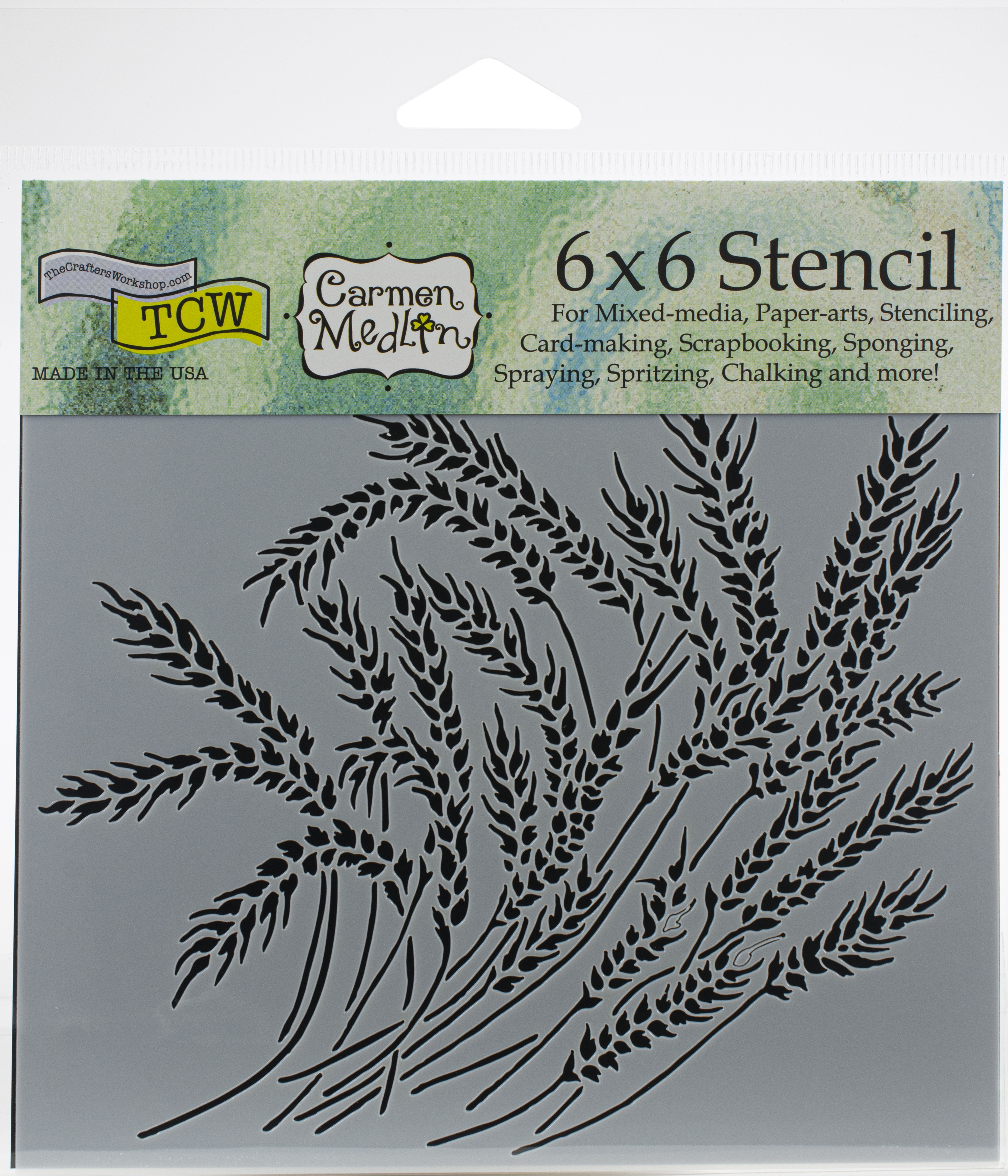 Crafter's Workshop Template 6X6-Wheat Stalks