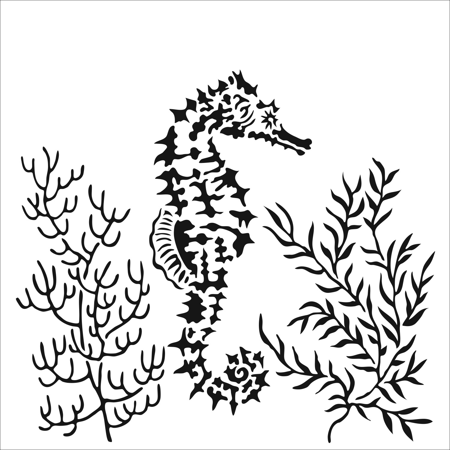 Crafter's Workshop Template 6X6-Seahorse