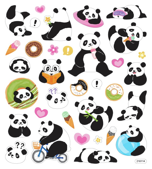 Sticker King Stickers-Playful Pandas