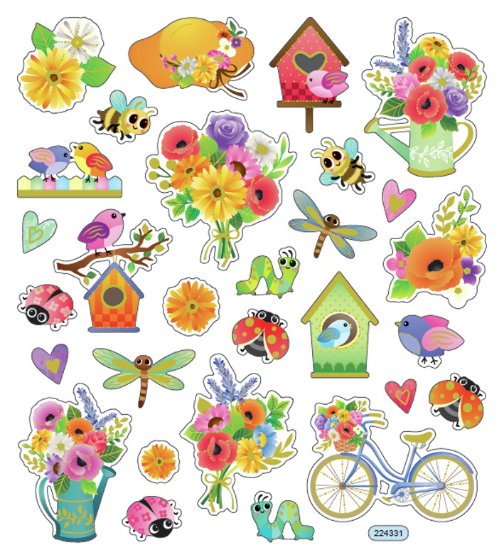 Sticker King Stickers-Spring Has Sprung