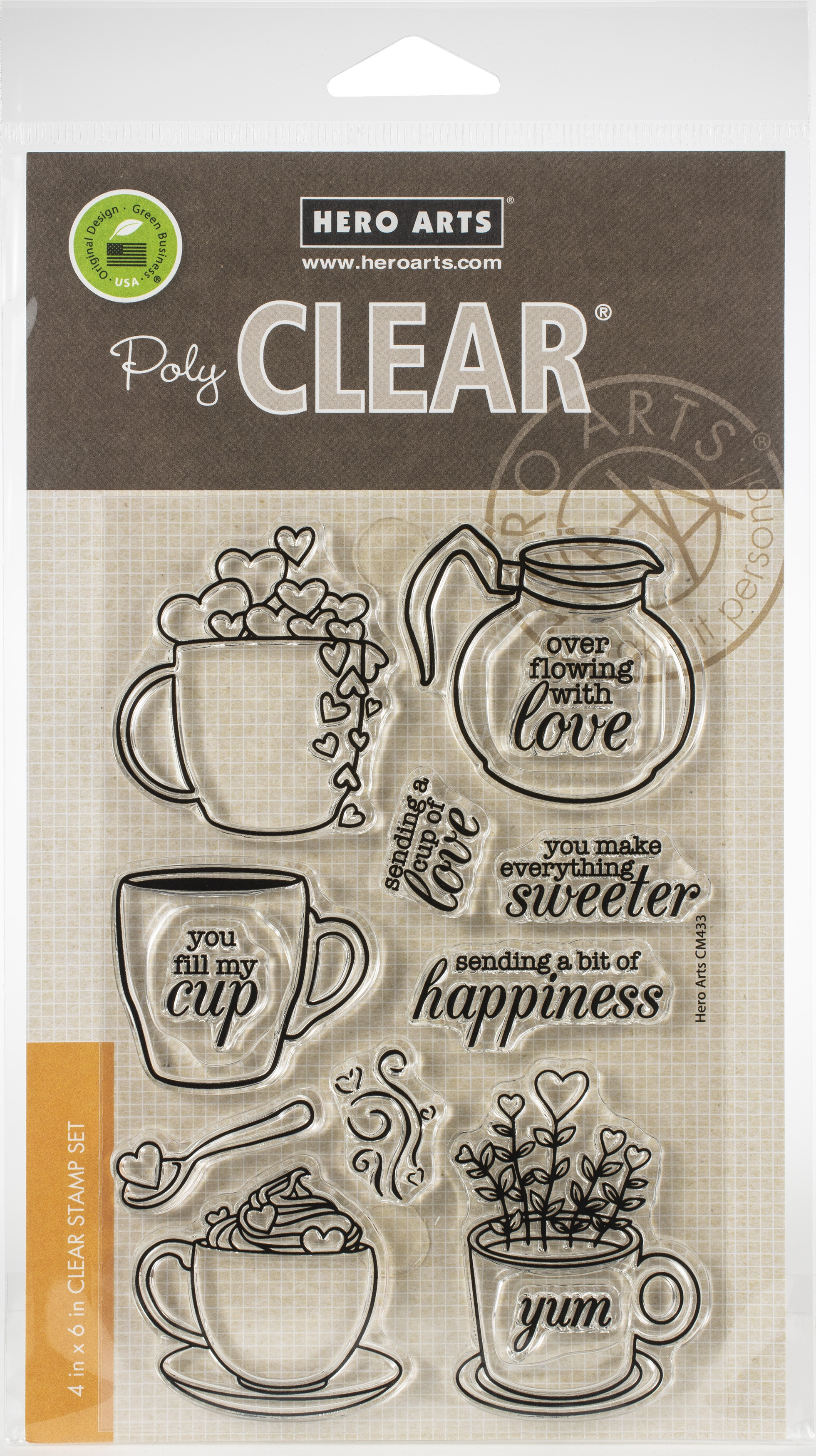 Hero Arts Clear Stamps 4X6-Cup Of Love