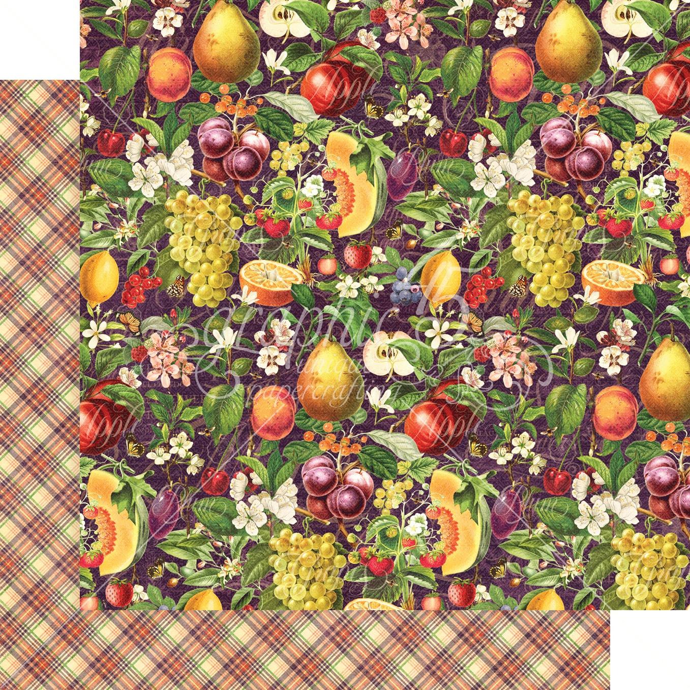 Fruit & Flora Double-Sided Cardstock 12X12-Abundant Harvest