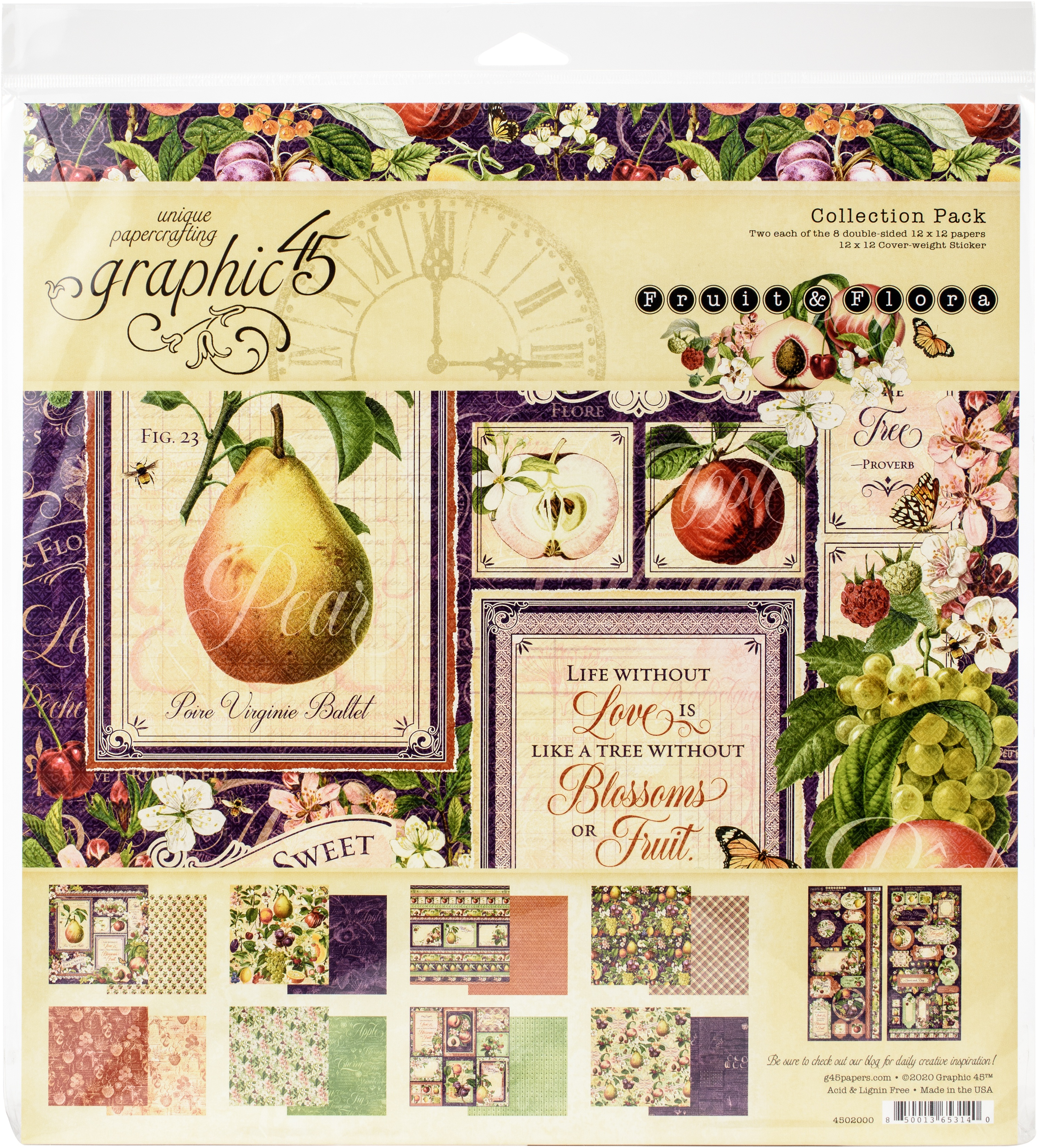 Fruit & Flora Collection Pack 12X12