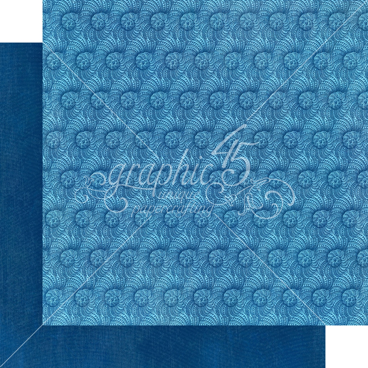 Graphic 45 Double-Sided Paper Pad 12X12 16/Pkg-Ocean Blue