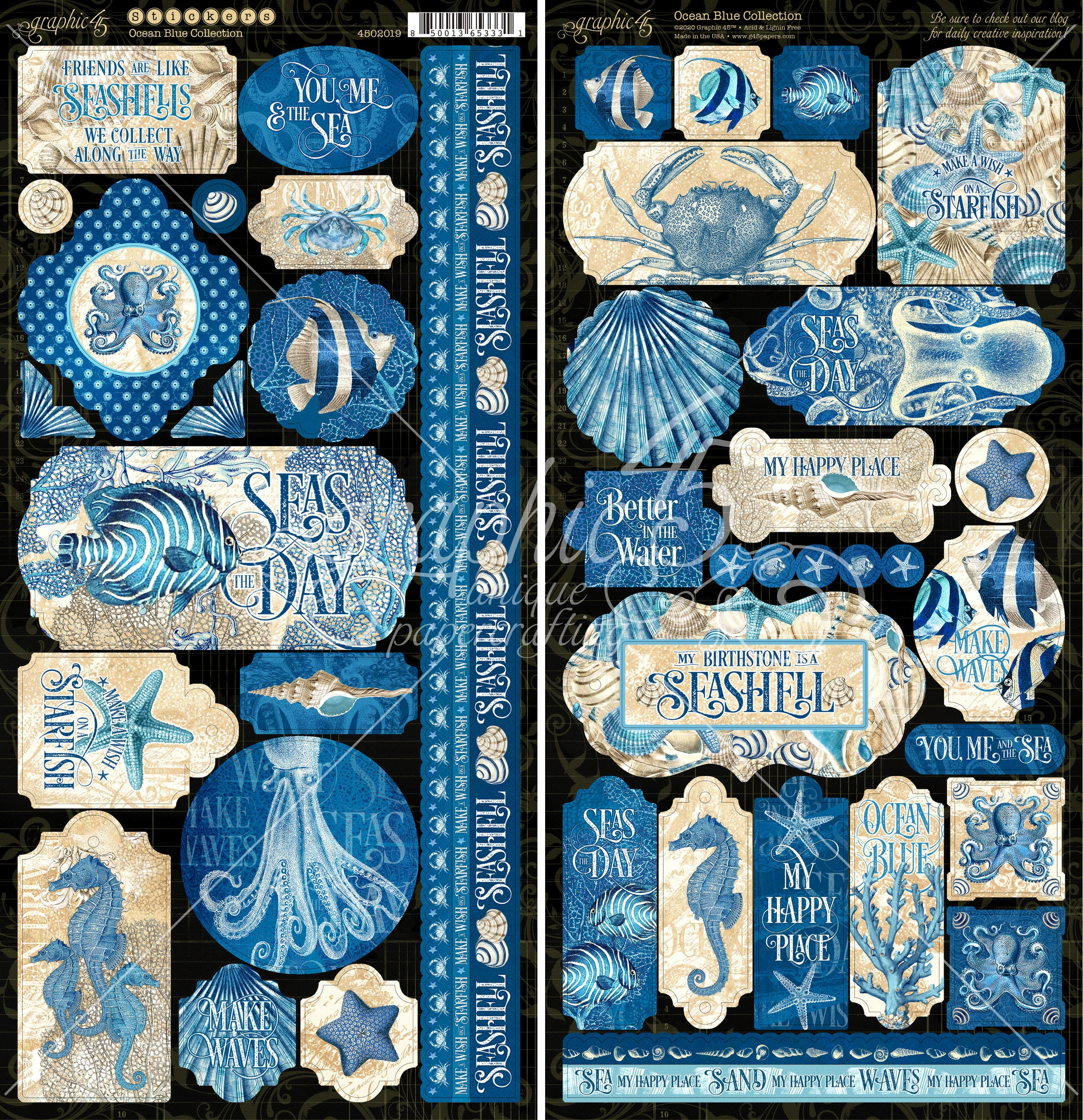 Graphic 45 - Ocean Blue Stickers