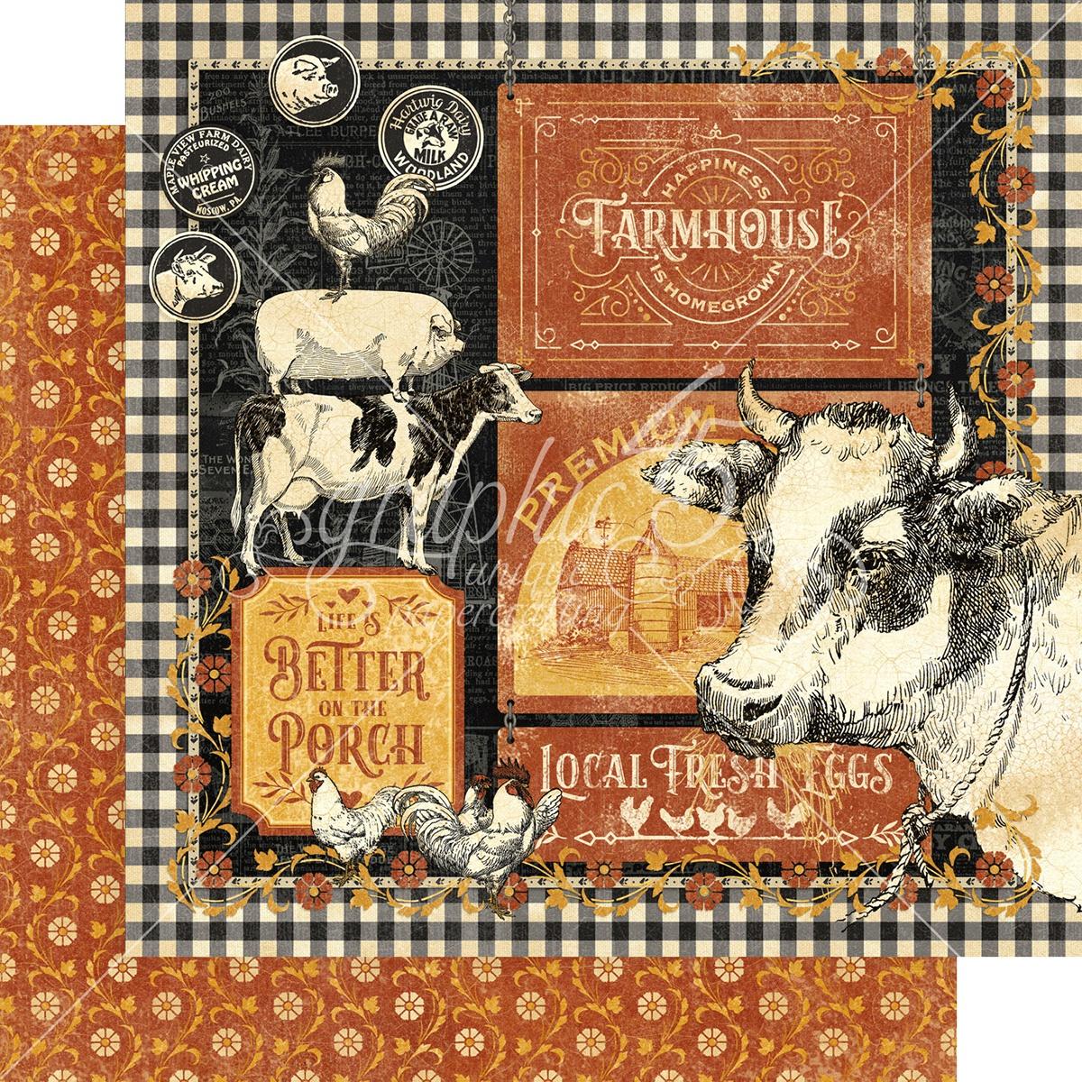 Farmhouse Double-Sided Cardstock 12X12-Farmhouse