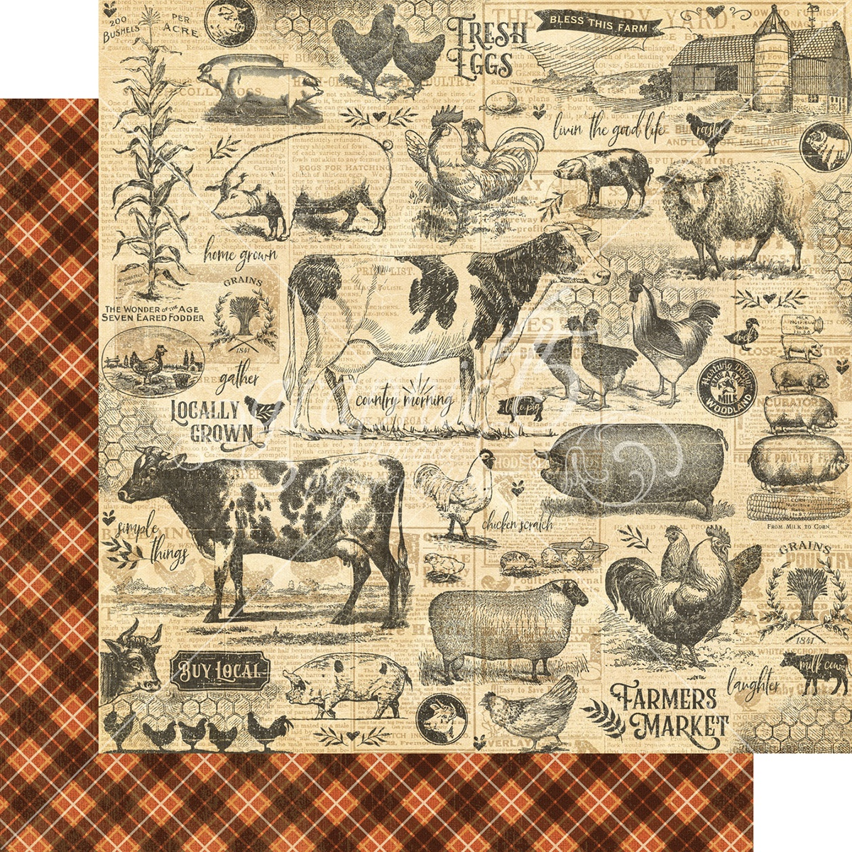 Farmhouse Double-Sided Cardstock 12X12-Gather Together