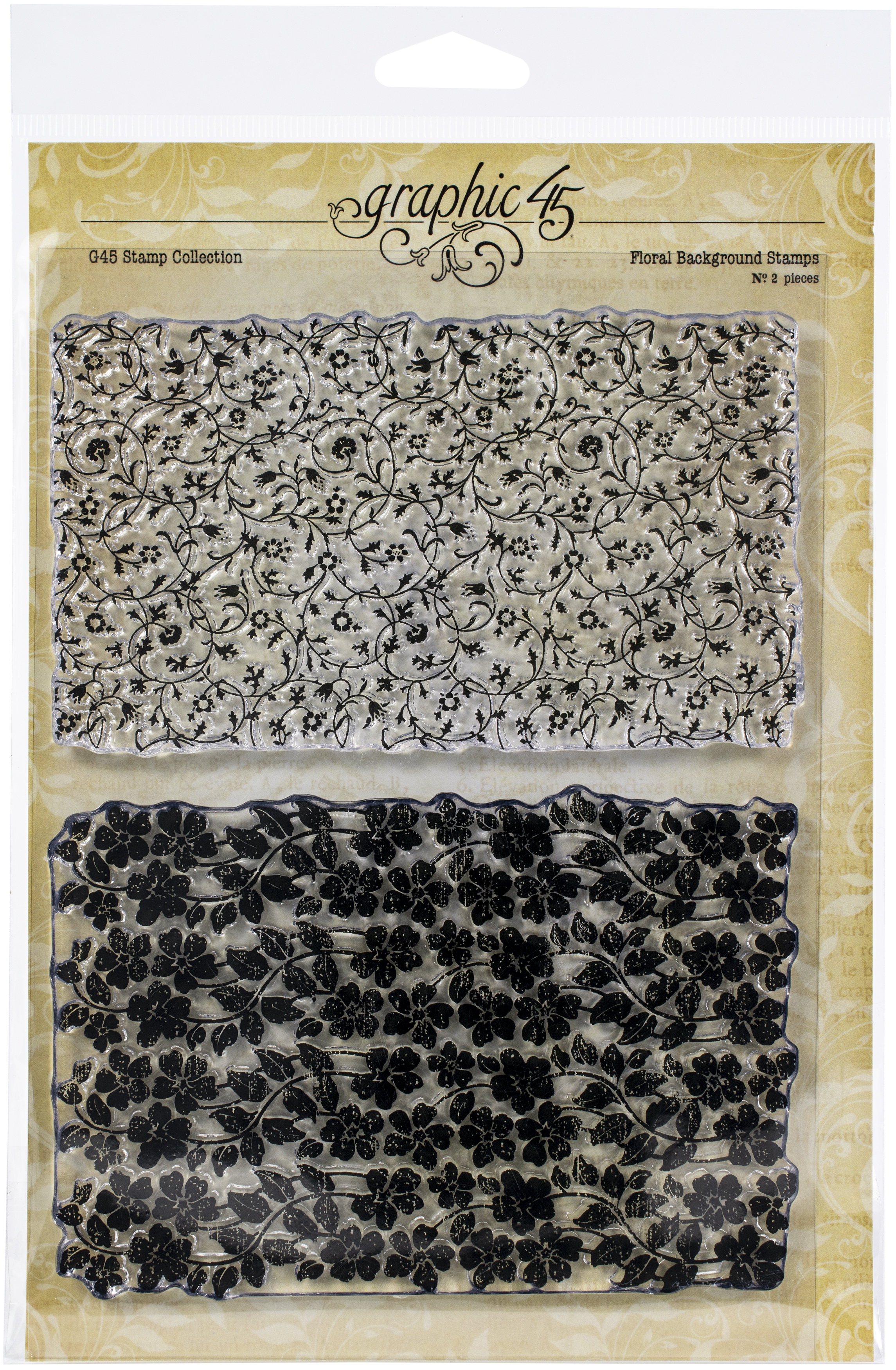 Graphic 45 Floral Background Stamp