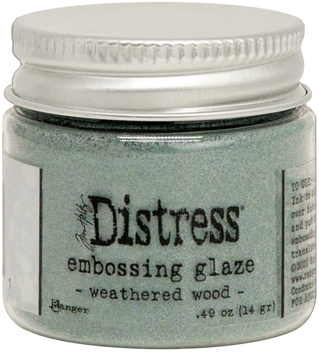 Tim Holtz Distress Embossing Glaze -Weathered Wood