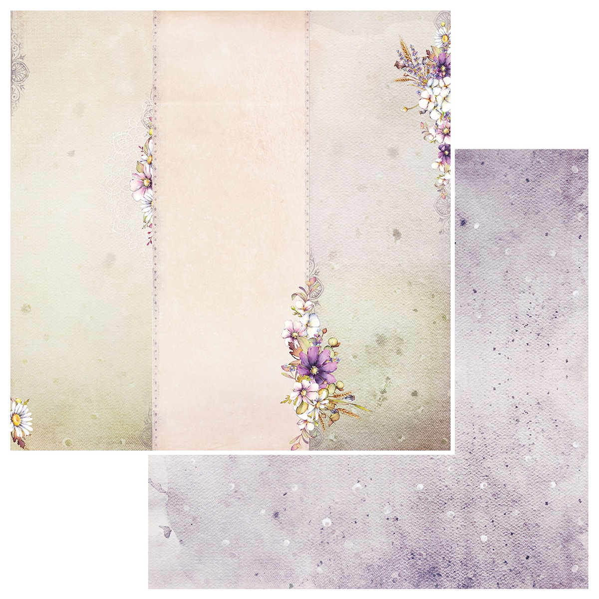 Irrevocable Beauty Double-Sided Cardstock 12X12-Efflorescent