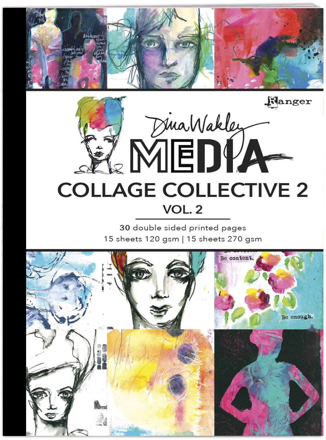 PREORDER Dina Wakley Media Mixed Media Collage Collective 2-Vol 2