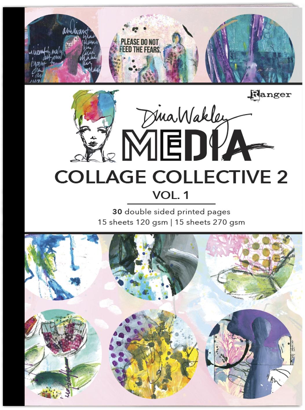 Dina Wakley Media Mixed Media Collage Collective 2-Vol 1
