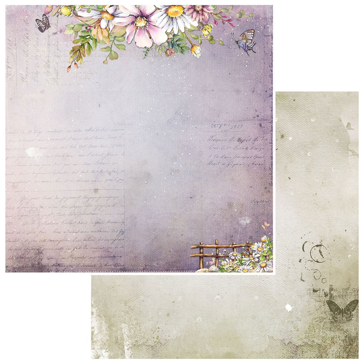 Irrevocable Beauty Double-Sided Cardstock 12X12-Sonnet