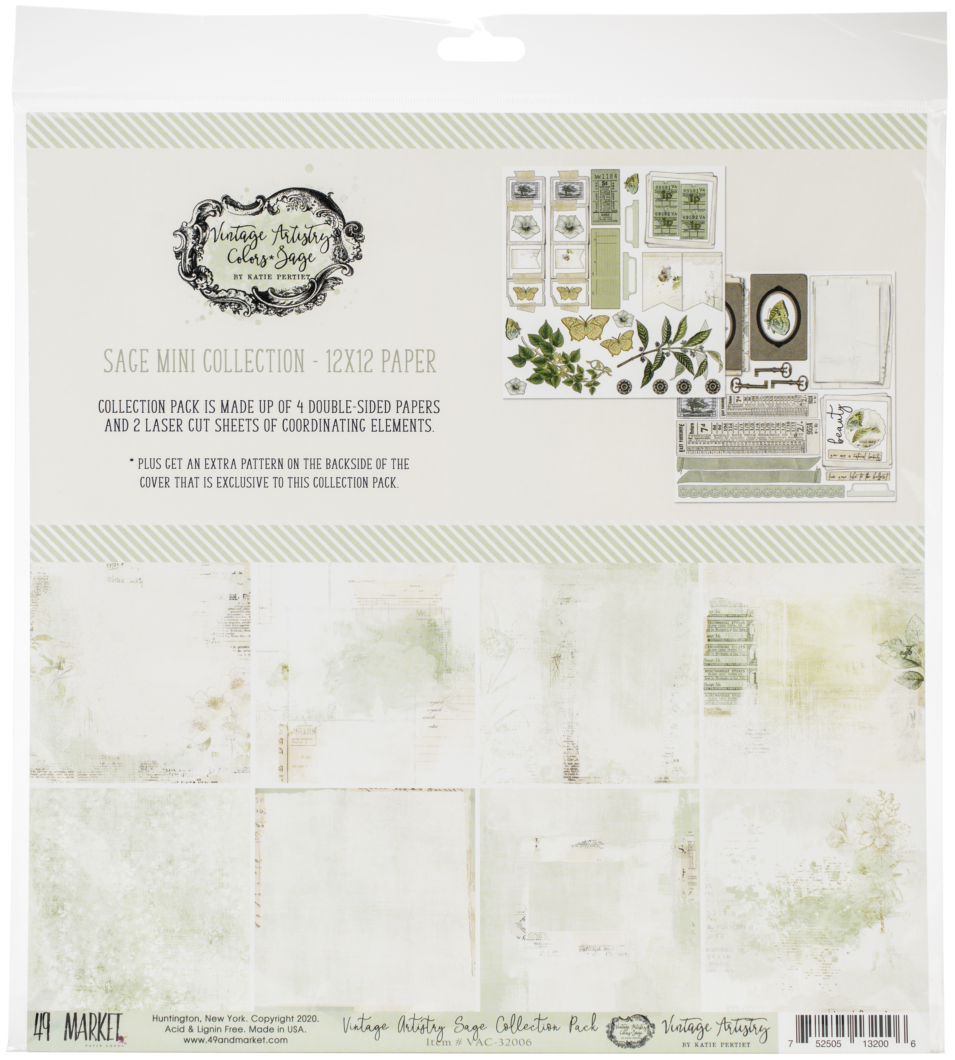 49 And Market Collection Pack 12X12-Vintage Artistry Sage