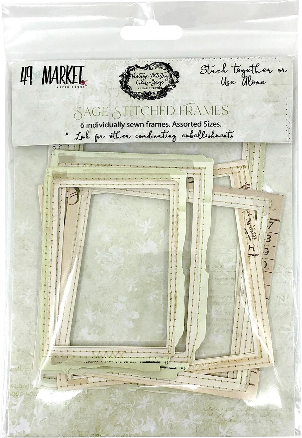 49 And Market Vintage Artistry Sage Stitch Frame