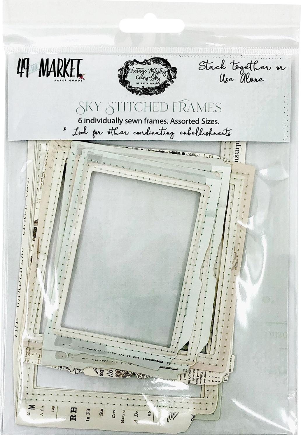 49 And Market Vintage Artistry Sky Stitch Frame