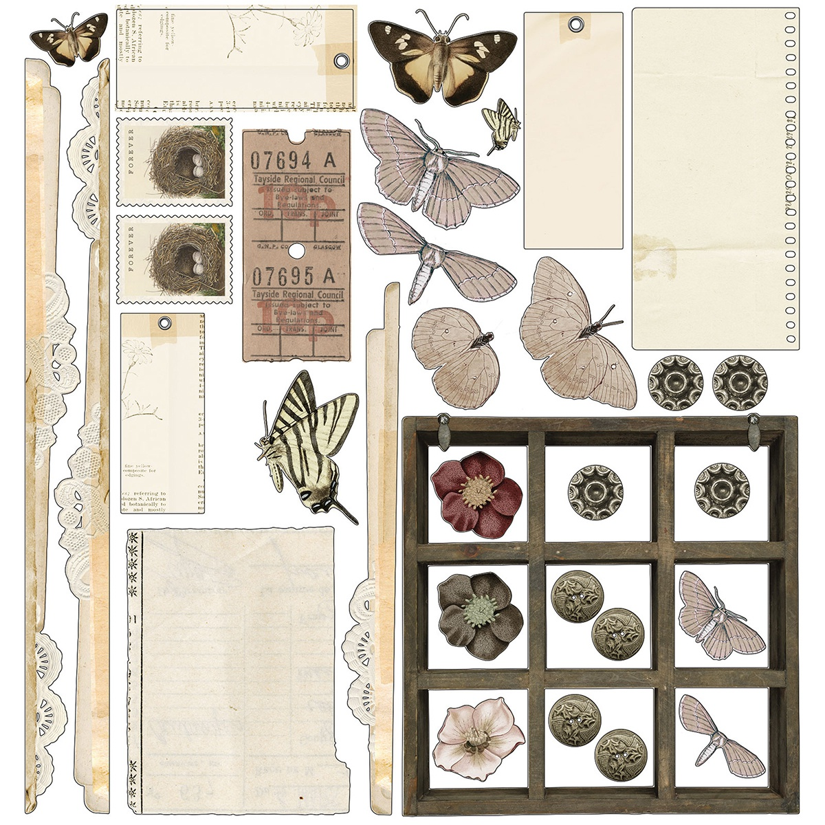 Vintage Artistry Natural Collection Pack 12X12