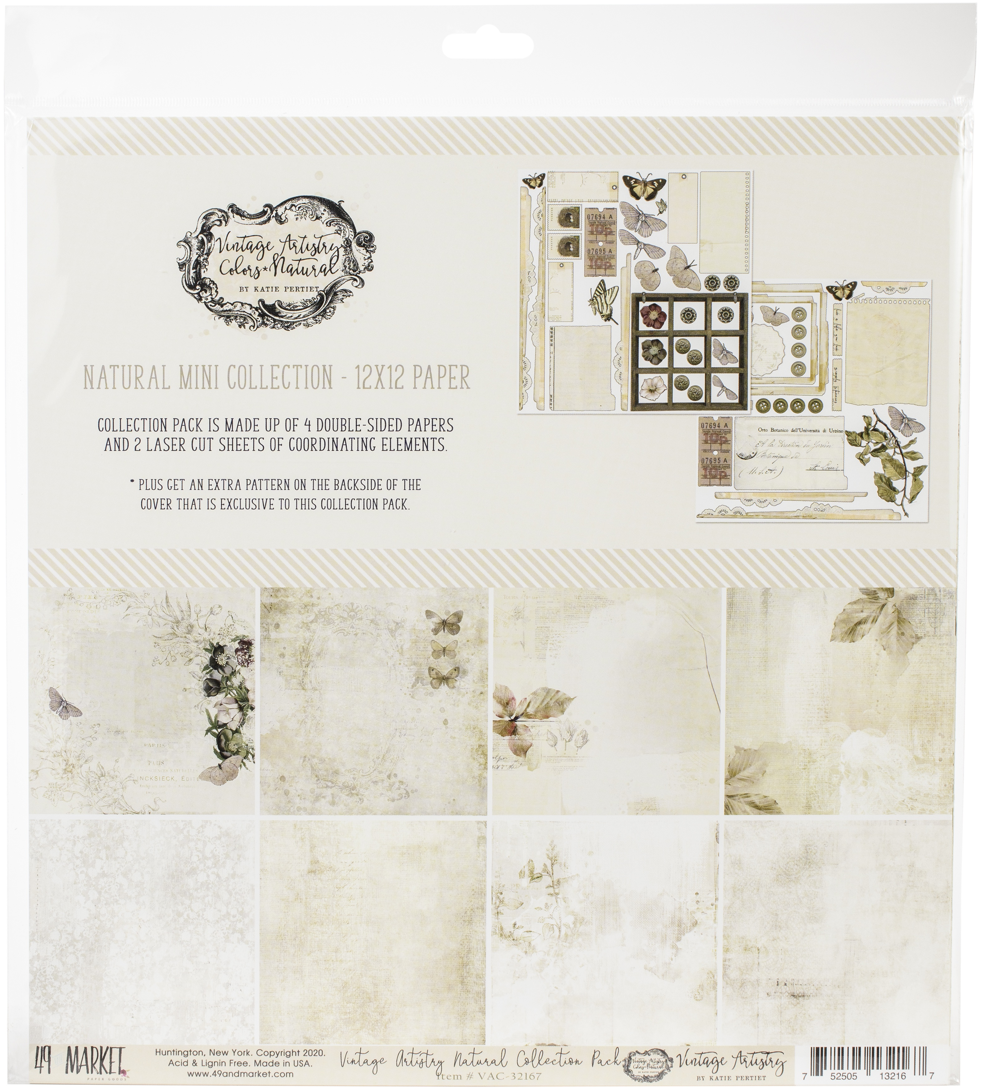 49 And Market Collection Pack 12X12-Vintage Artistry Natural