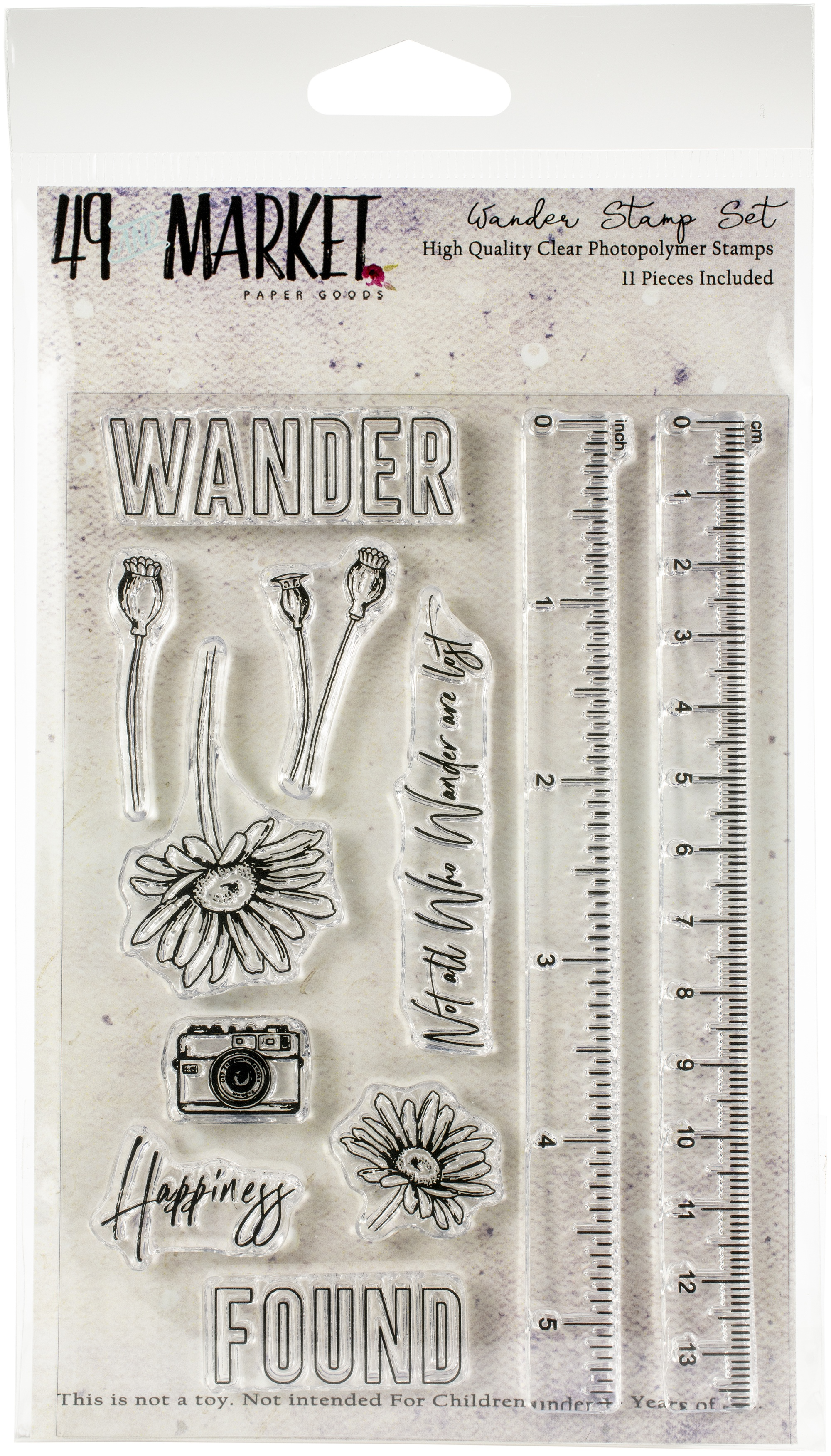 49 And Market Clear Stamps 4X6-Wander