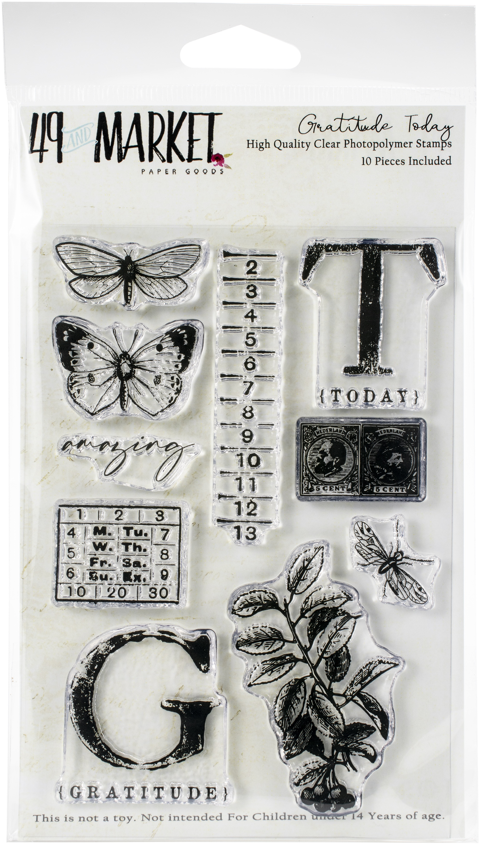 49 And Market - Clear Stamps - Gratitude Today