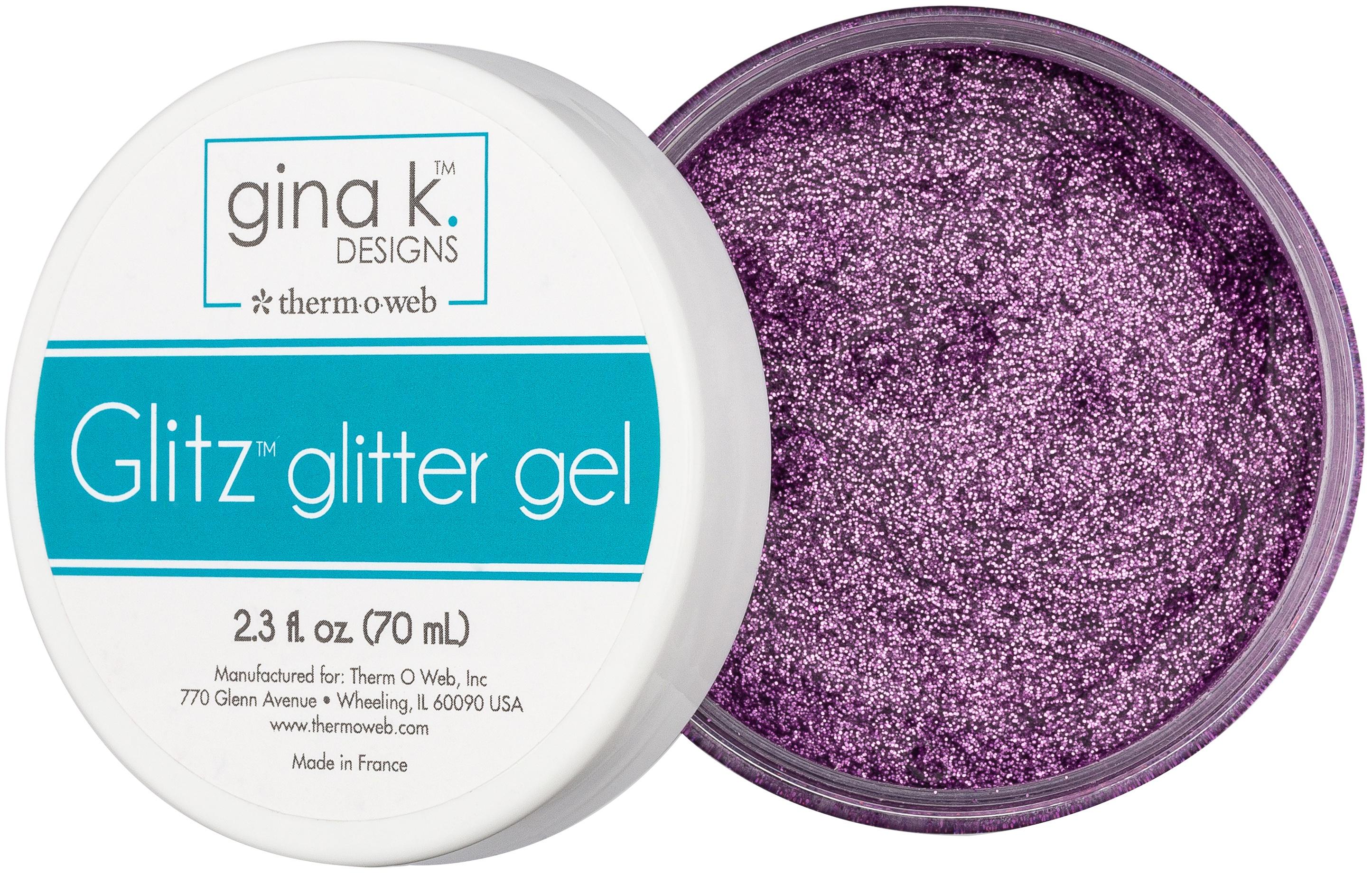 Gina K Designs Glitz Glitter Gel 2.3oz-Lavender