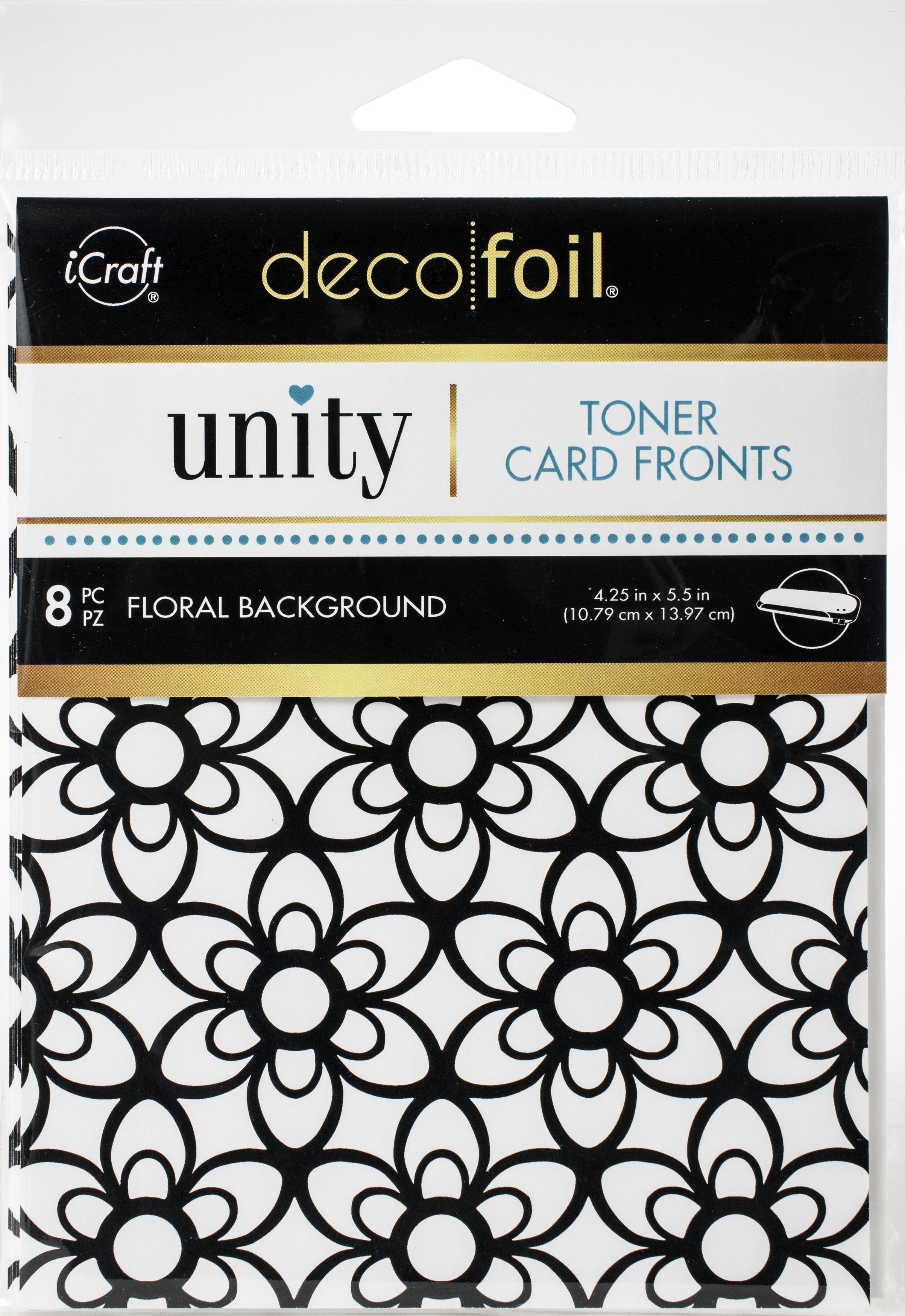 Deco Foil Toner Card Fronts By Unity 4.25X5.5 8/Pkg-Floral Background