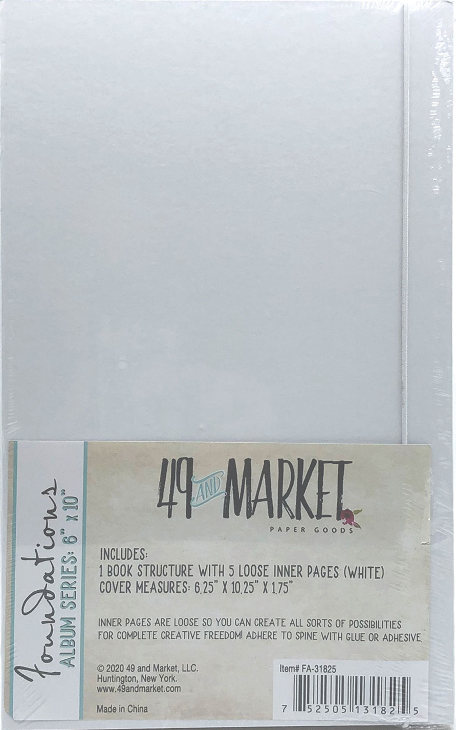 49 And Market Foundations Album 6X10-White
