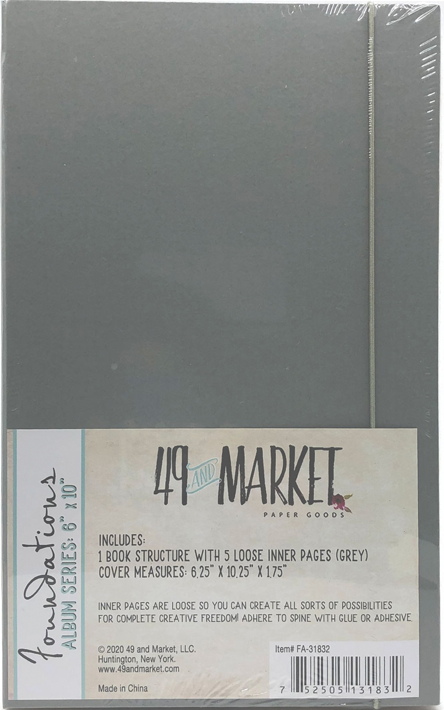 49 And Market Foundations Album 6X10-Grey