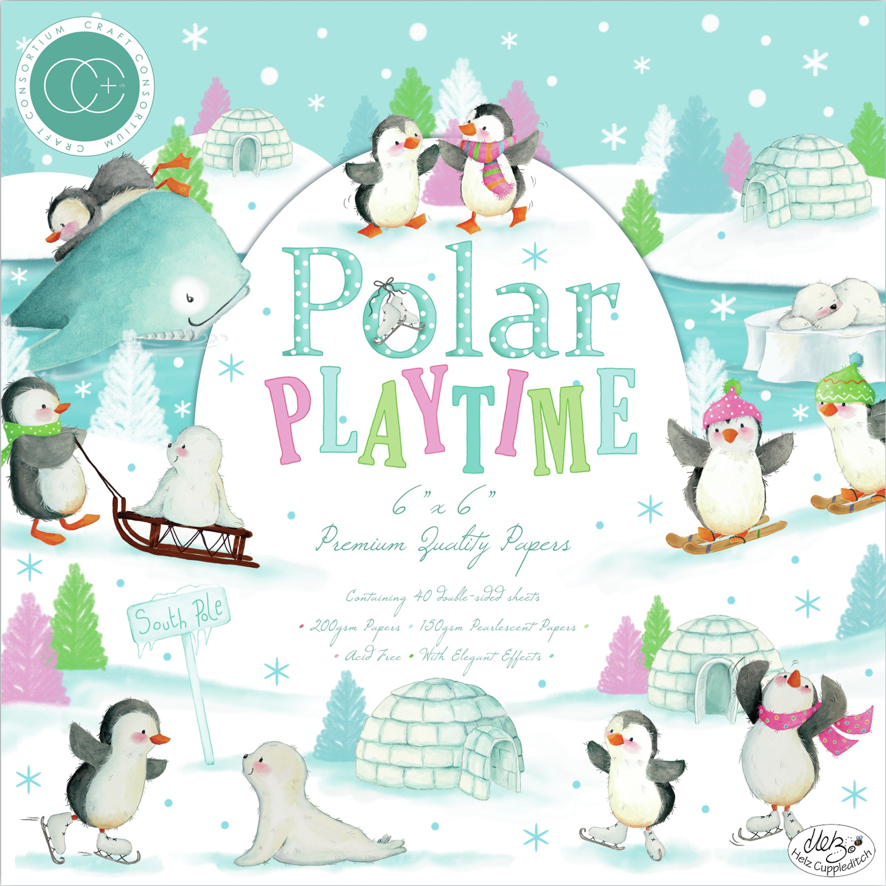 Polar Playtime Paper Pad 6X6