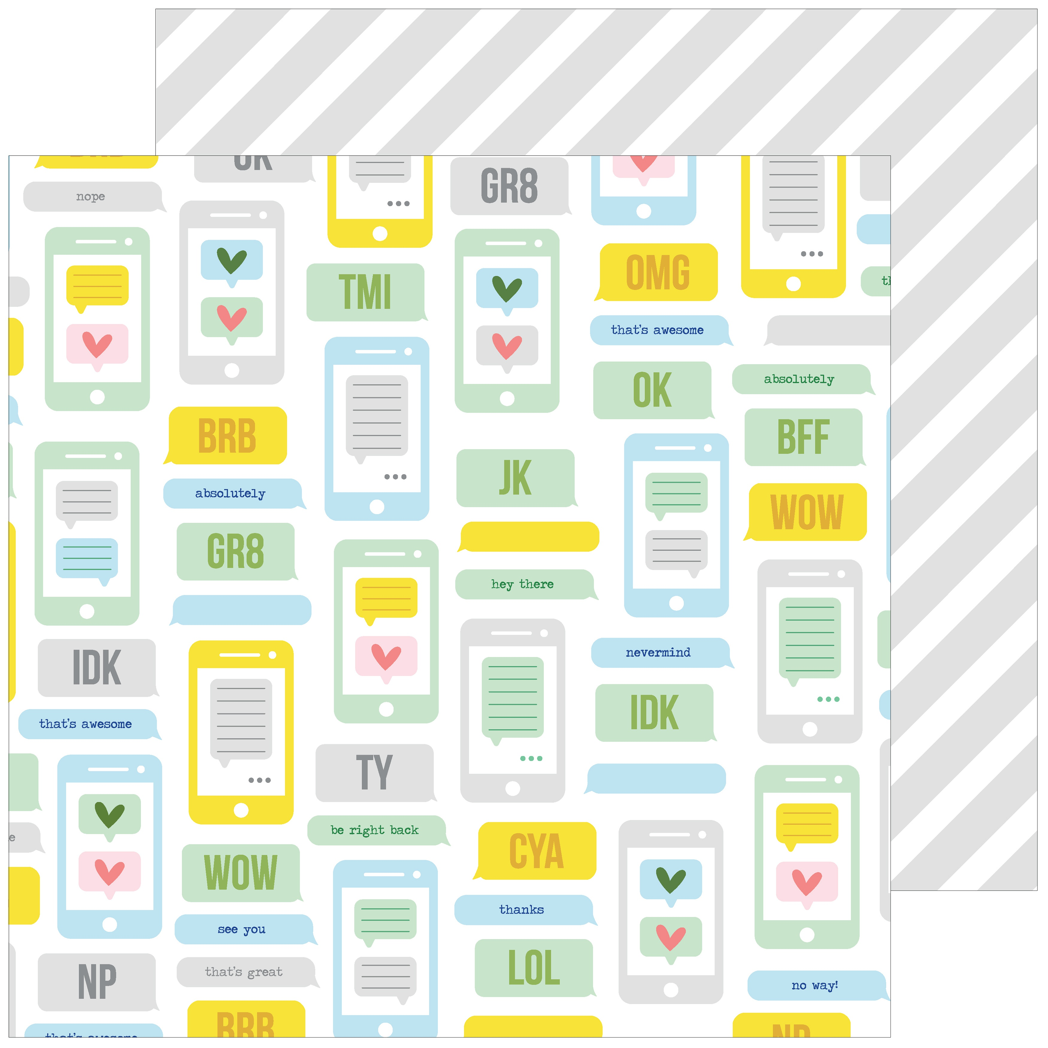 Super Cool Double-Sided Cardstock 12X12-Be Right Back