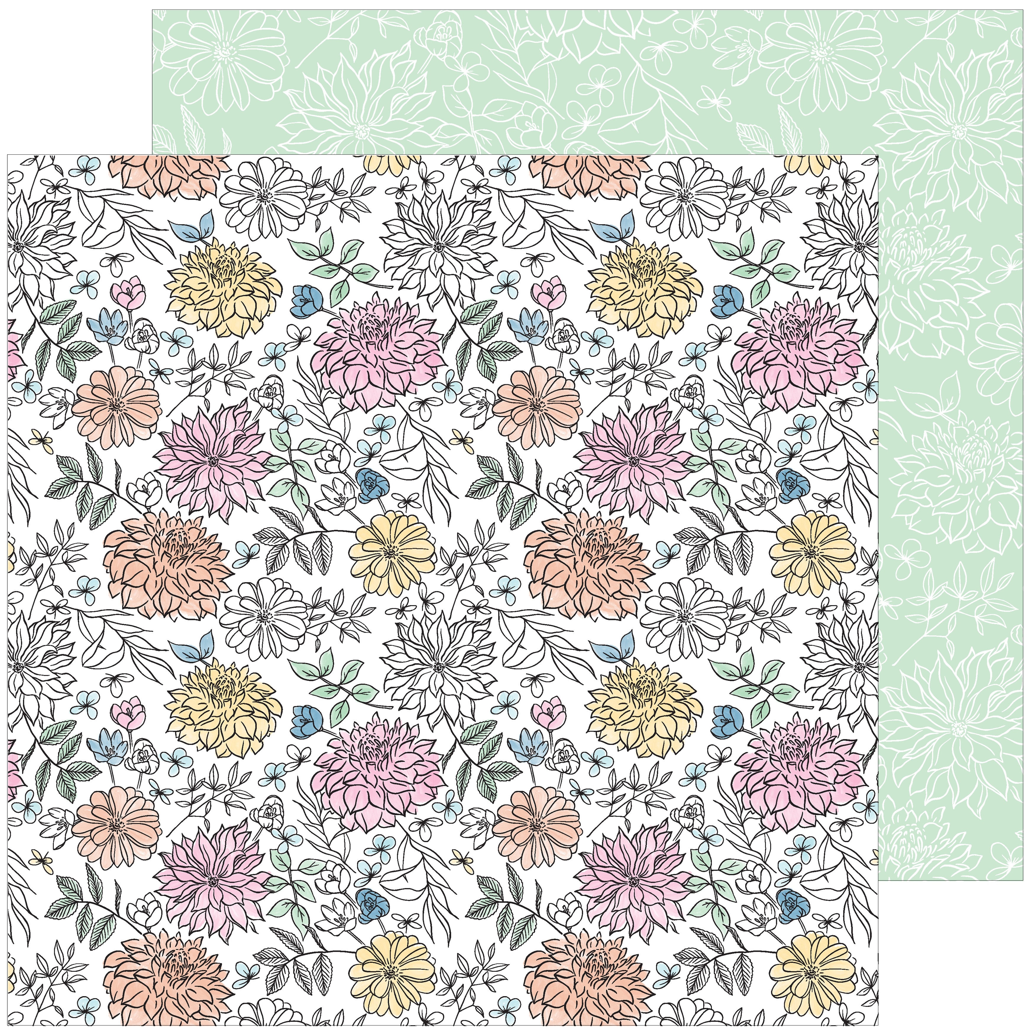 My Favorite Story Double-Sided Cardstock 12X12-Bloom & Grow