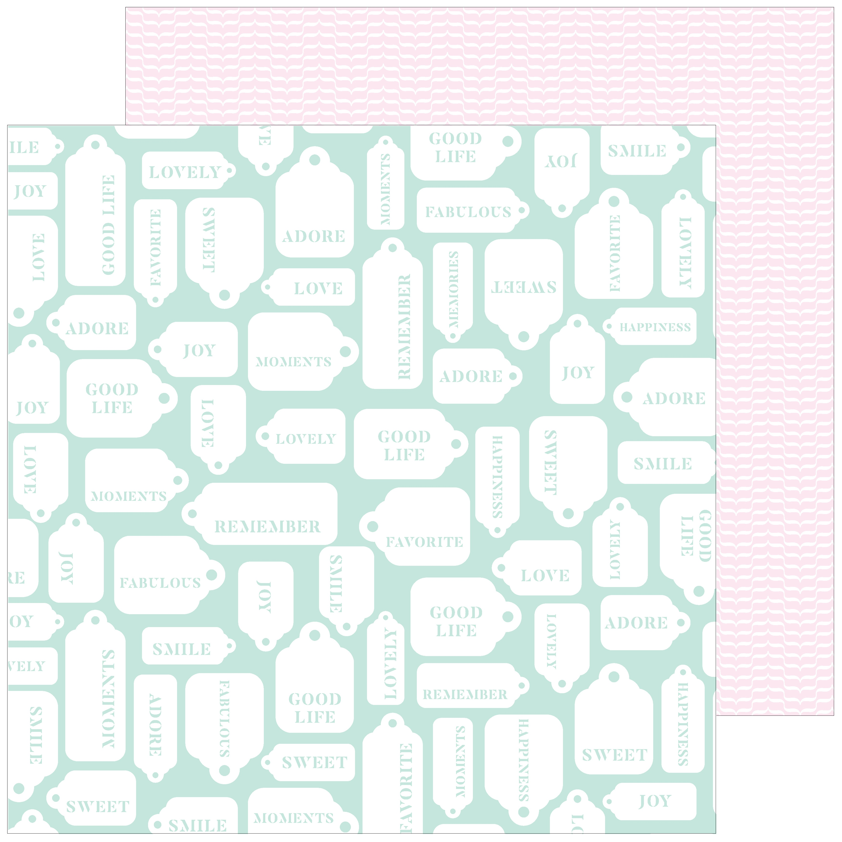 My Favorite Story Double-Sided Cardstock 12X12-Good Life