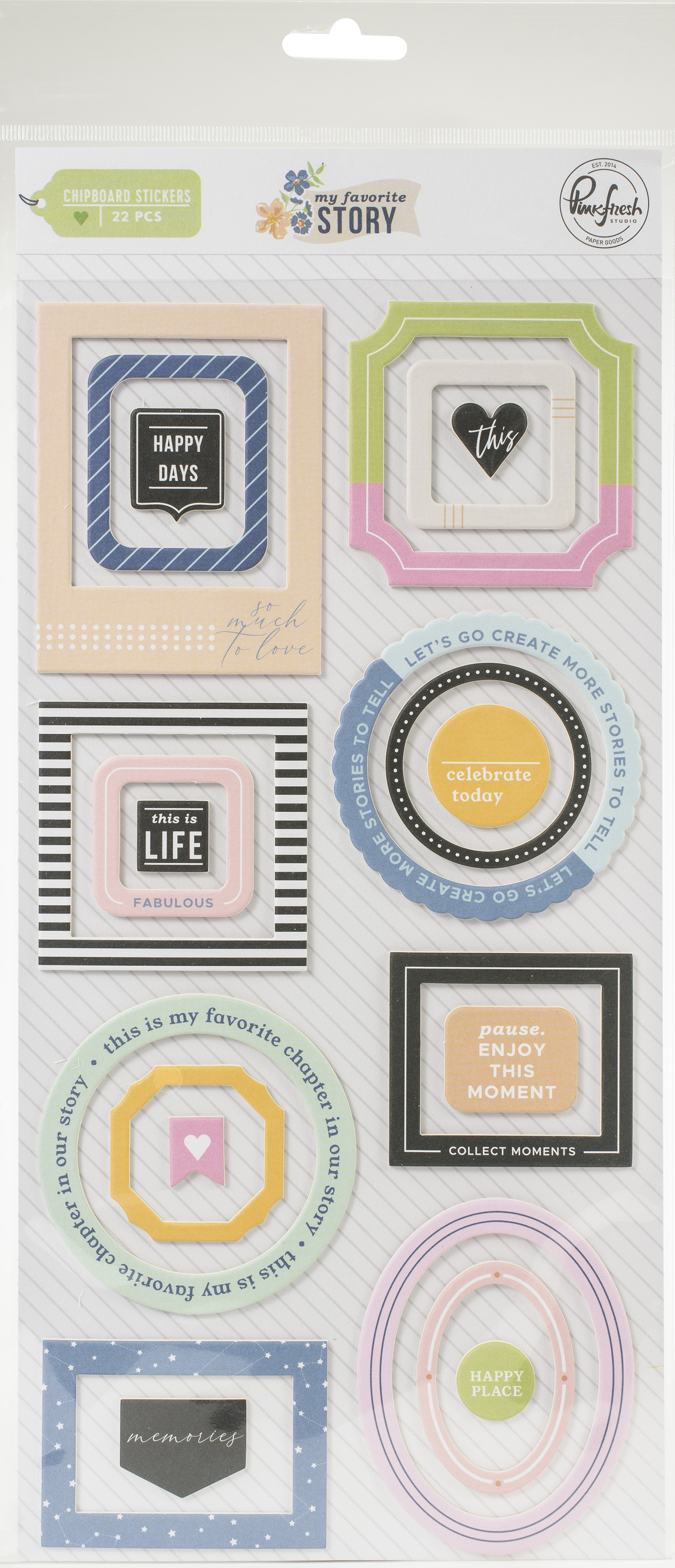 My Favorite Story Chipboard Frames & Accent Stickers-